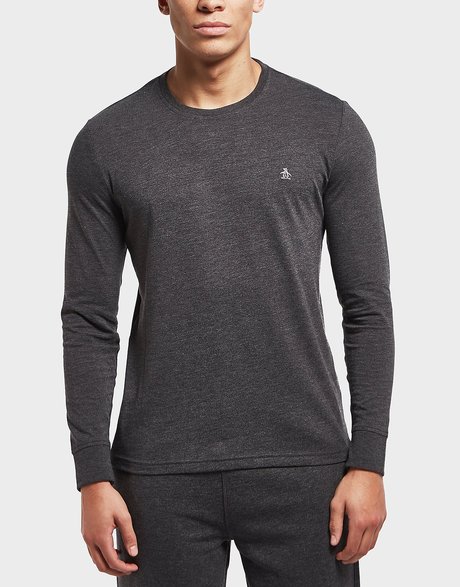 Original Penguin Cuffed Long Sleeve T-Shirt - Exclusive