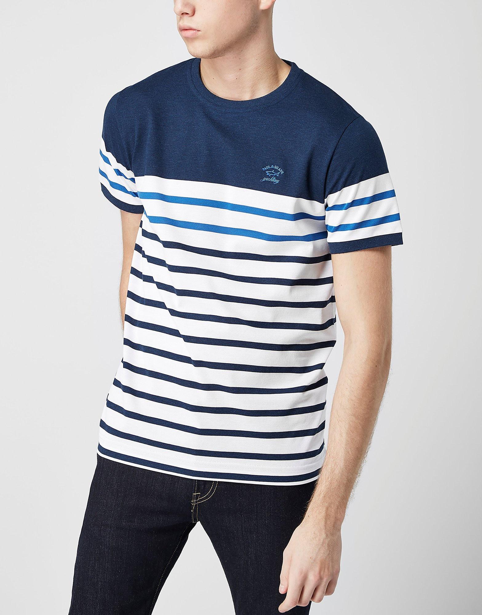 Paul and Shark Stripe Pique Polo Shirt