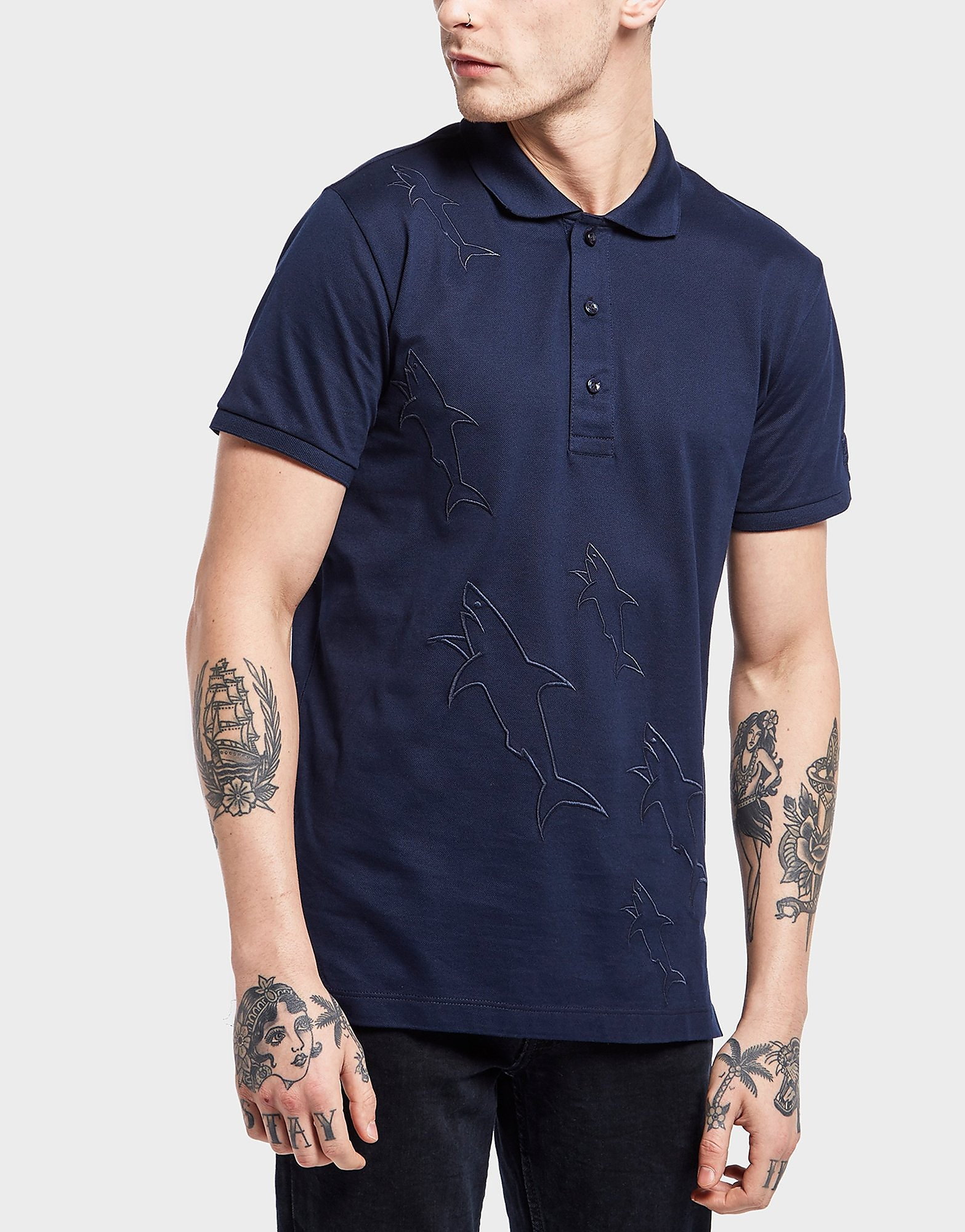 Paul and Shark Sharks Short Sleeve Polo Shirt