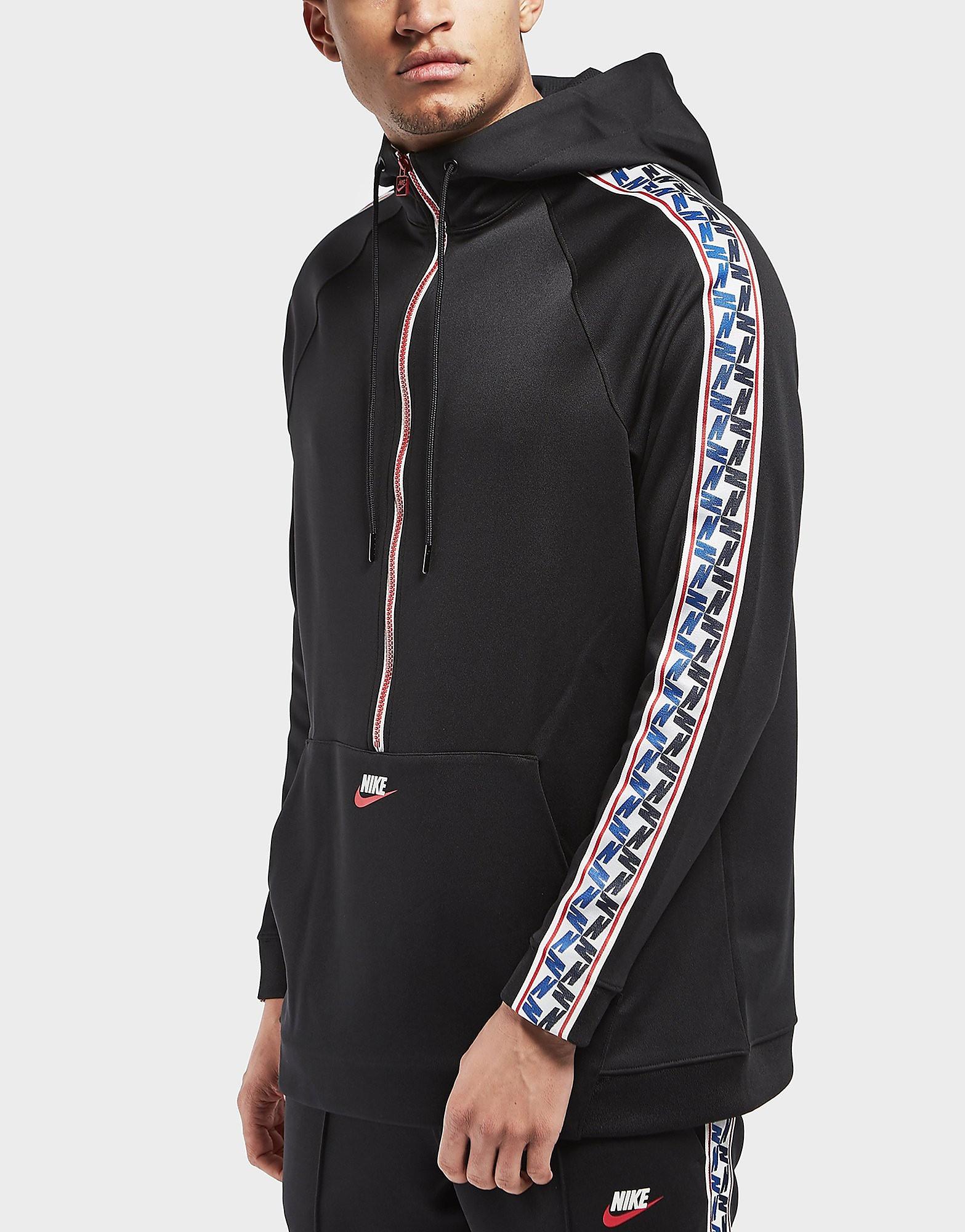Nike Half Zip Taped Poly Hoodie