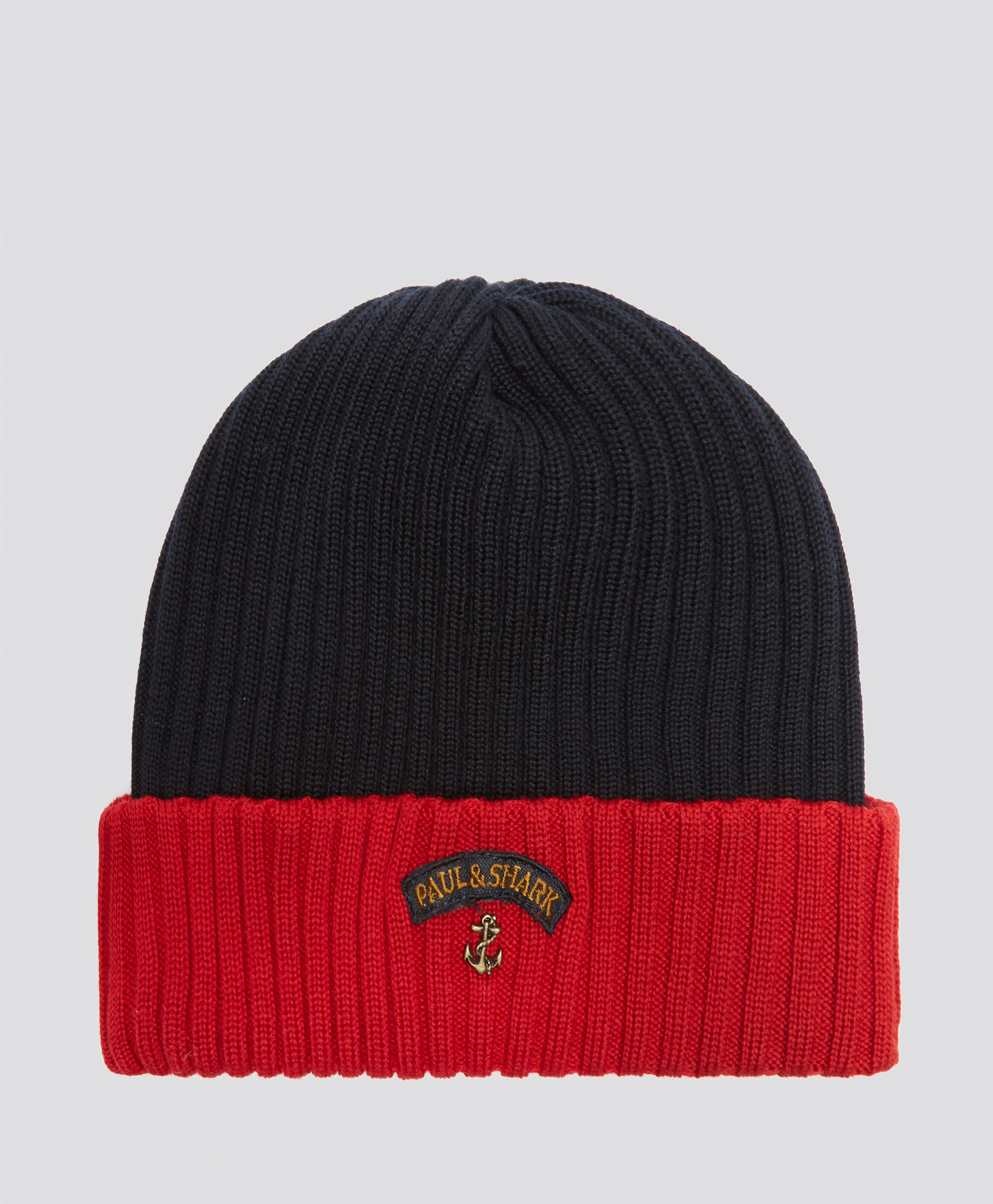 Paul and Shark Ribbed Knit Hat