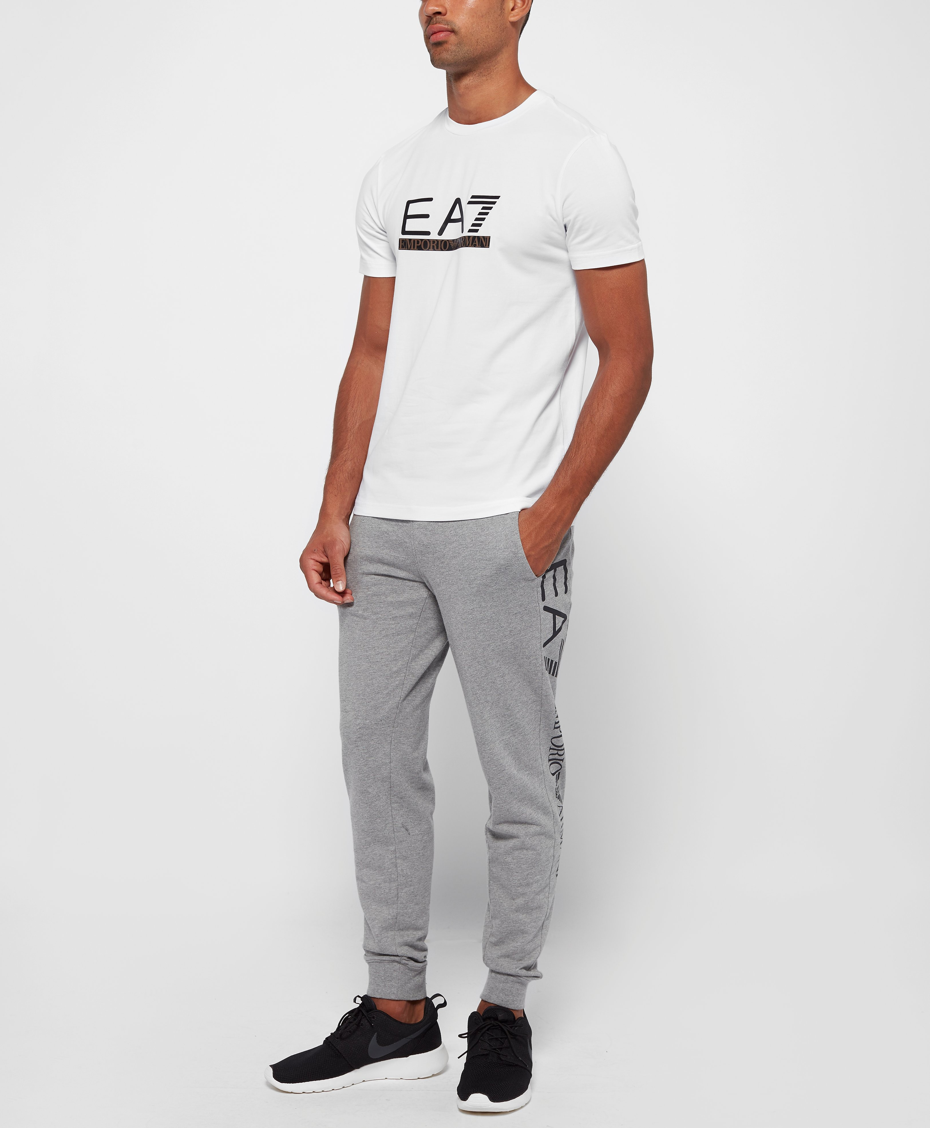 Emporio Armani EA7 Leather Logo T-Shirt - Exclusive
