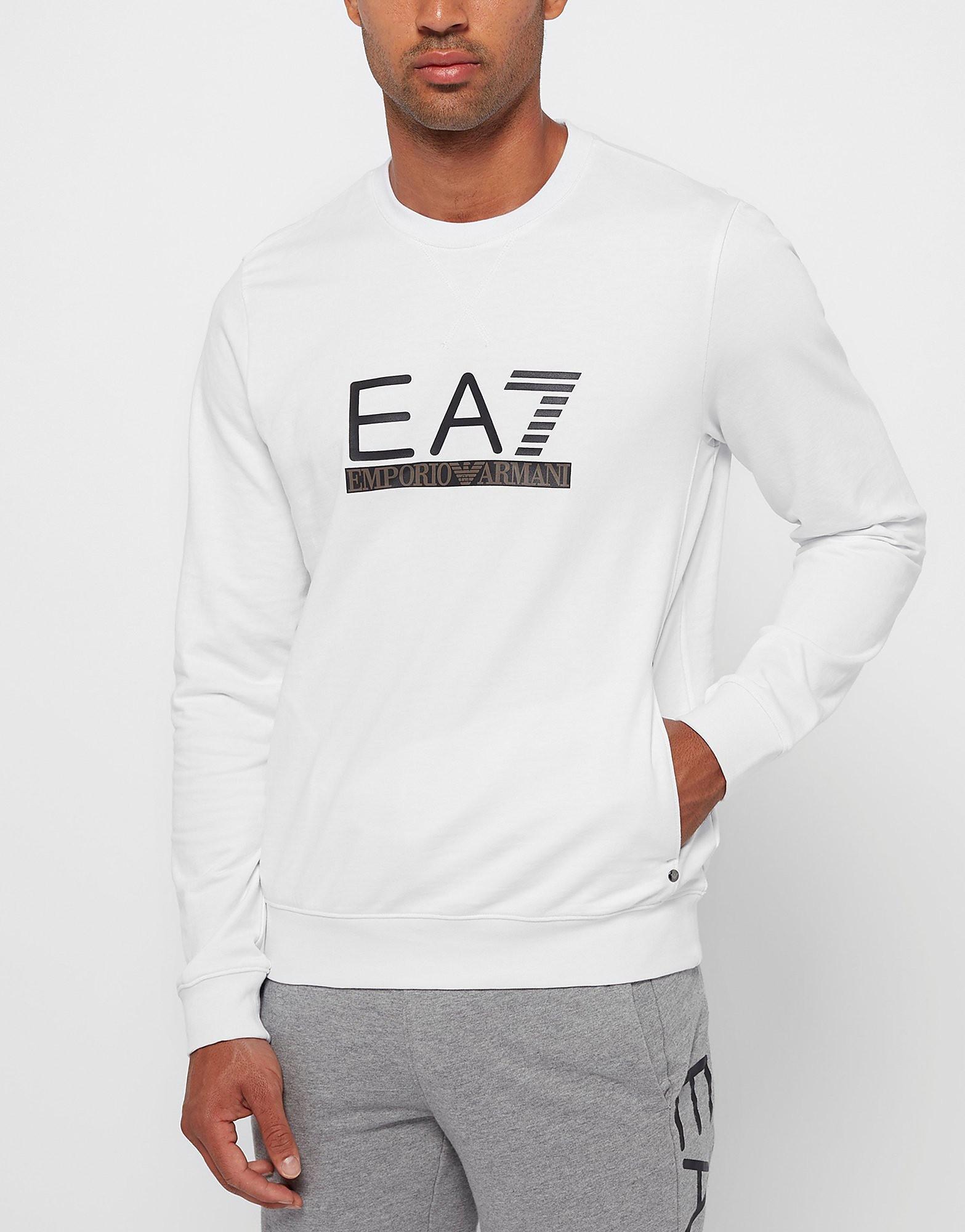 Emporio Armani EA7 Leather Crew Neck Sweatshirt - Exclusive