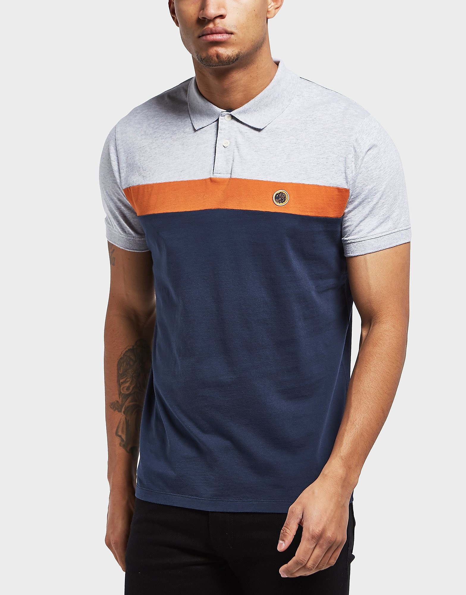 Pretty Green Frequency Short Sleeve Polo Shirt