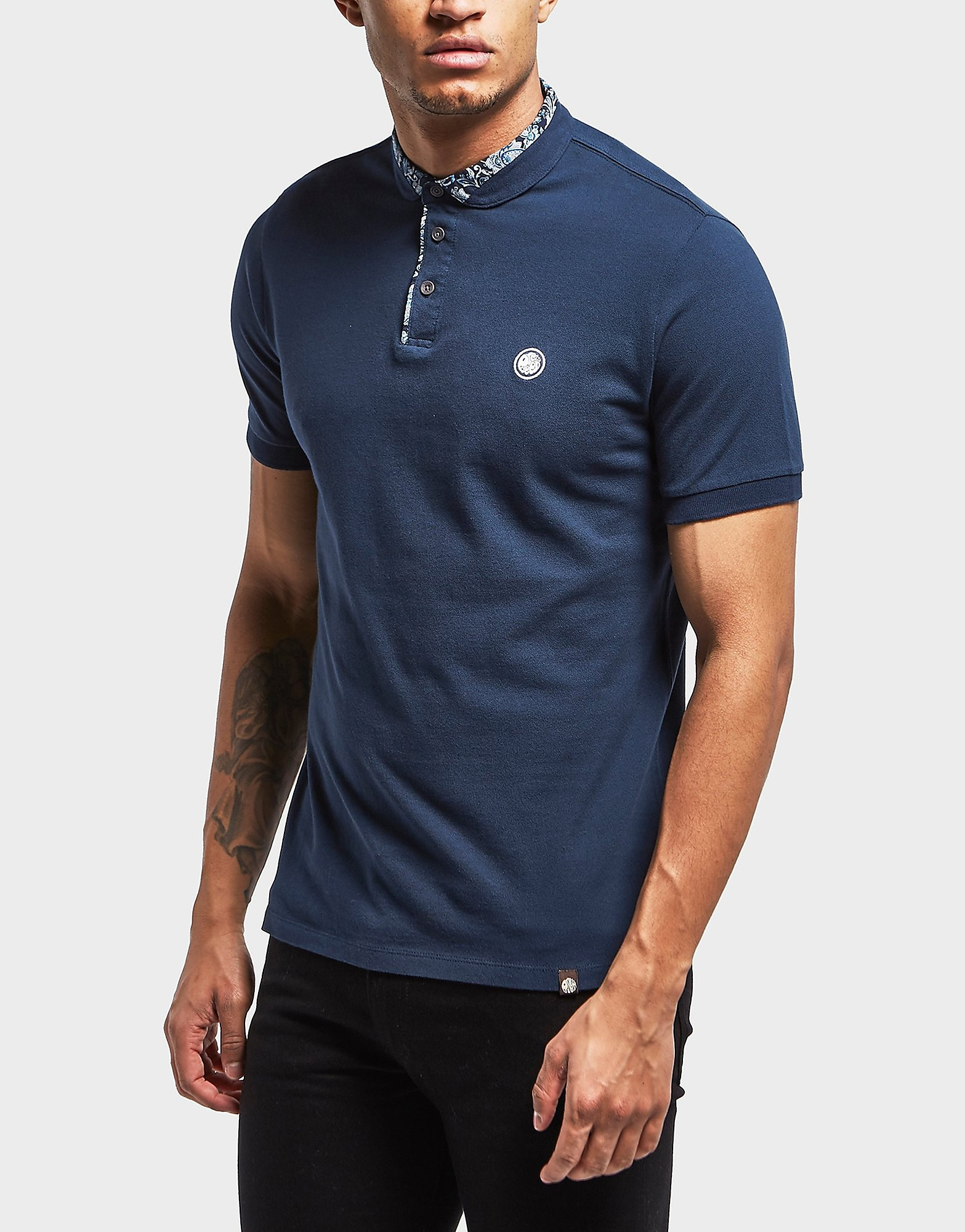 Pretty Green Offshore Ditsy Short Sleeve Polo Shirt