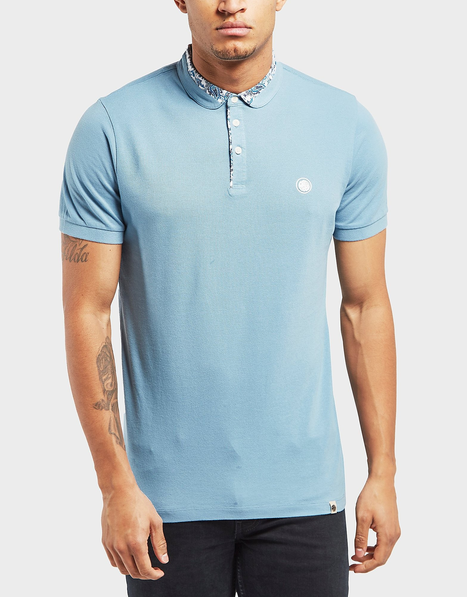Pretty Green Offshore Ditsy Printed Short Sleeve Polo Shirt