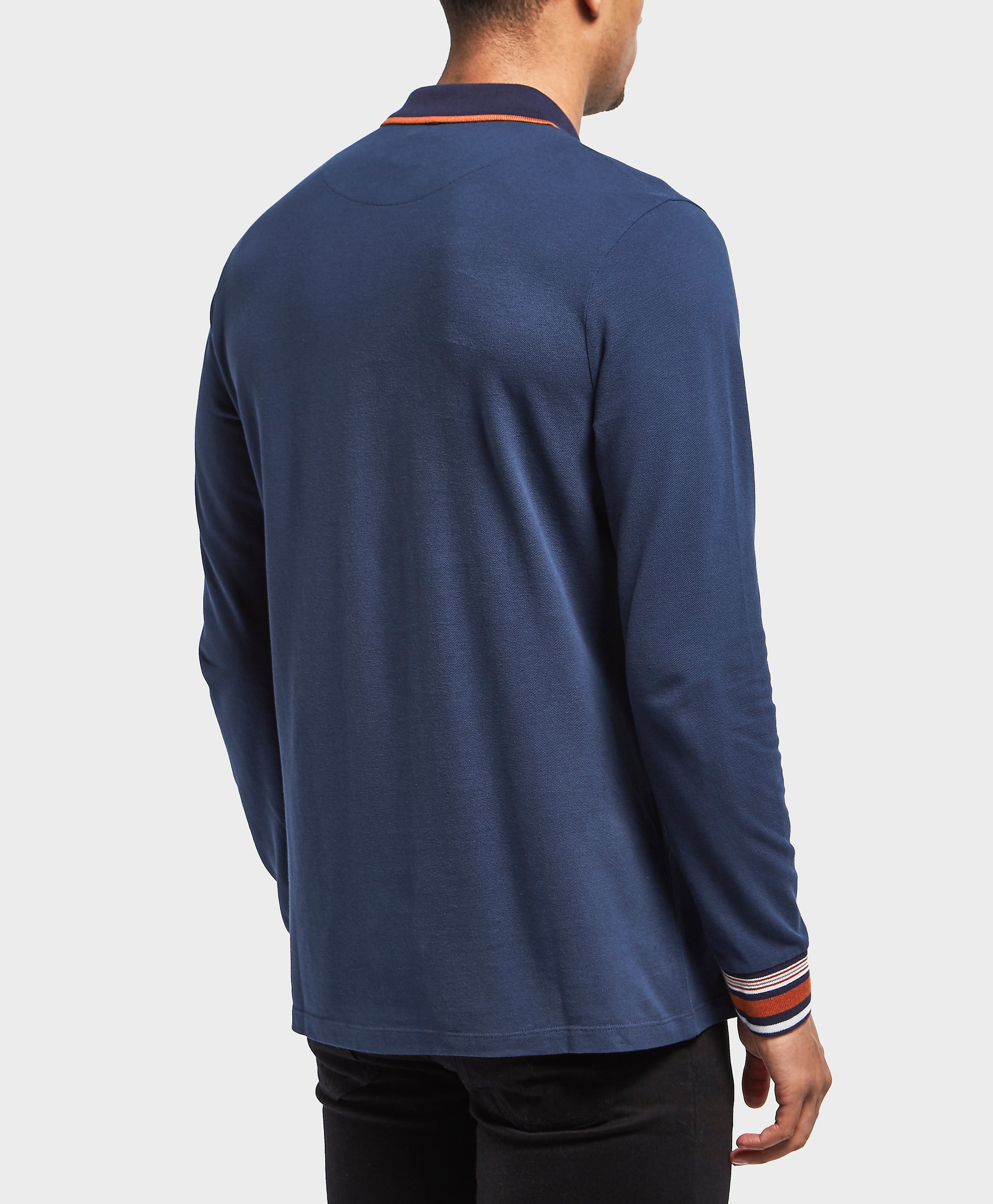 Pretty Green Nomad Long Sleeve Polo Shirt