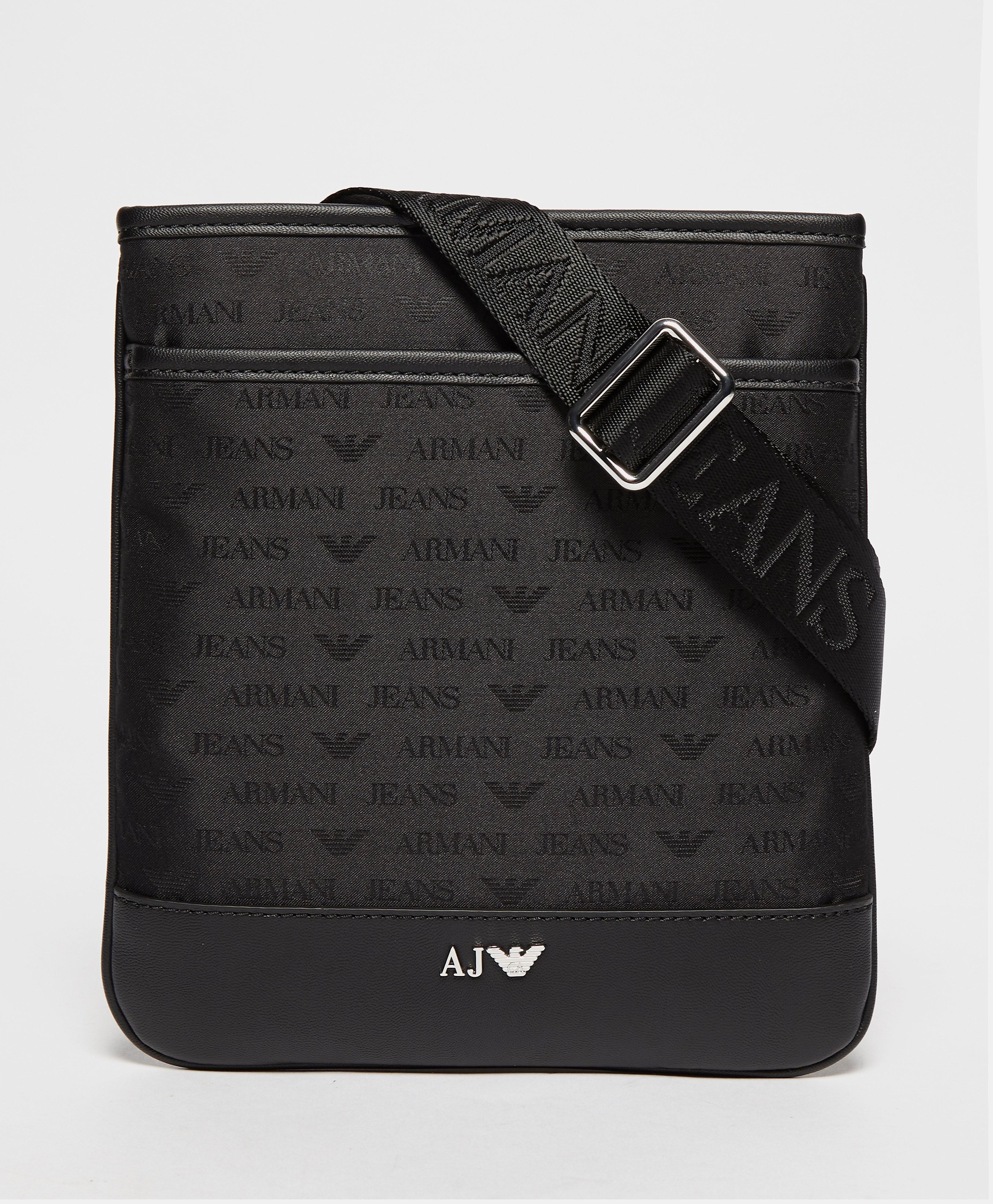 Armani Jeans Small Nylon Bag  Black Black
