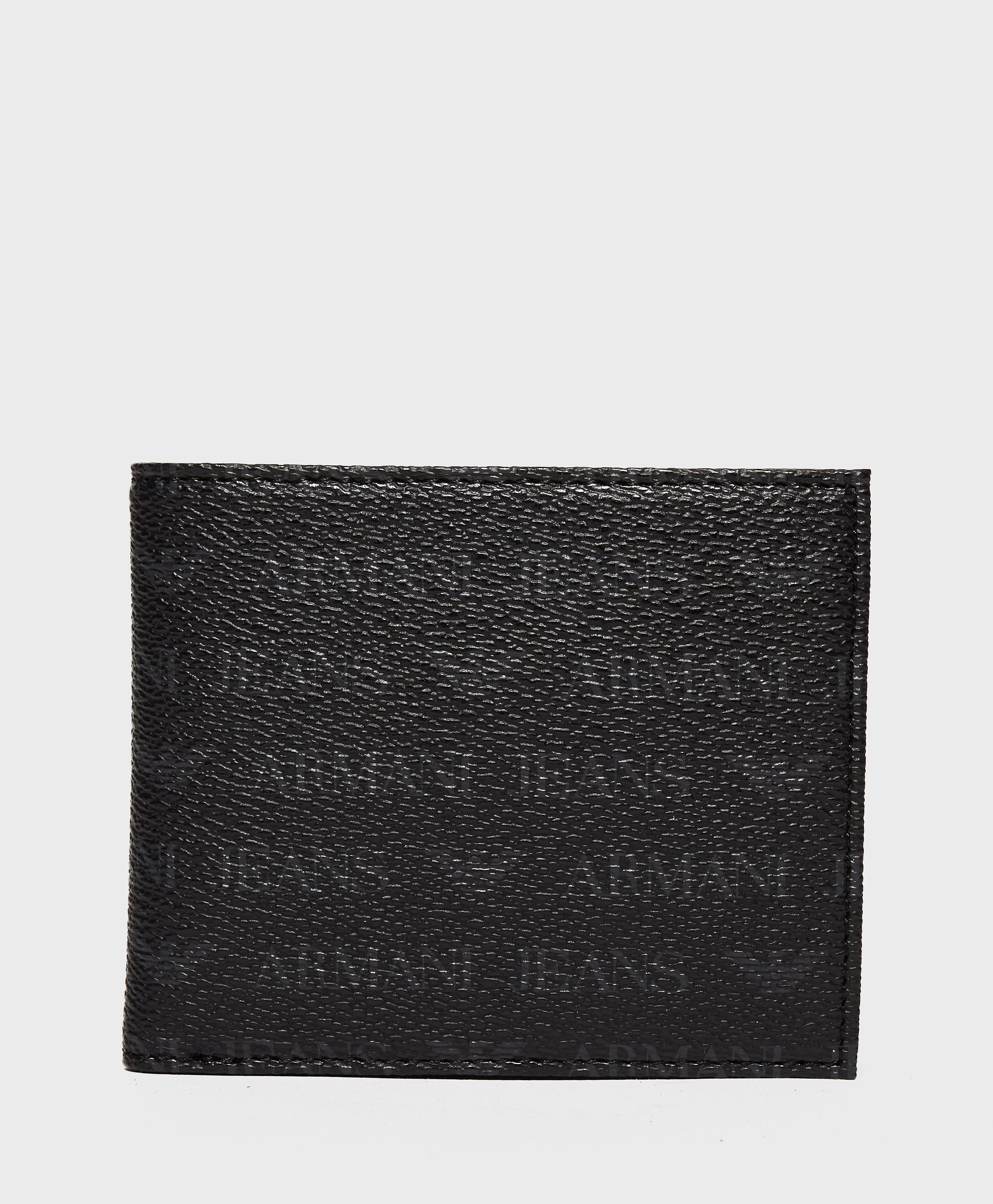 Armani Jeans Billfold Wallet  Black Black
