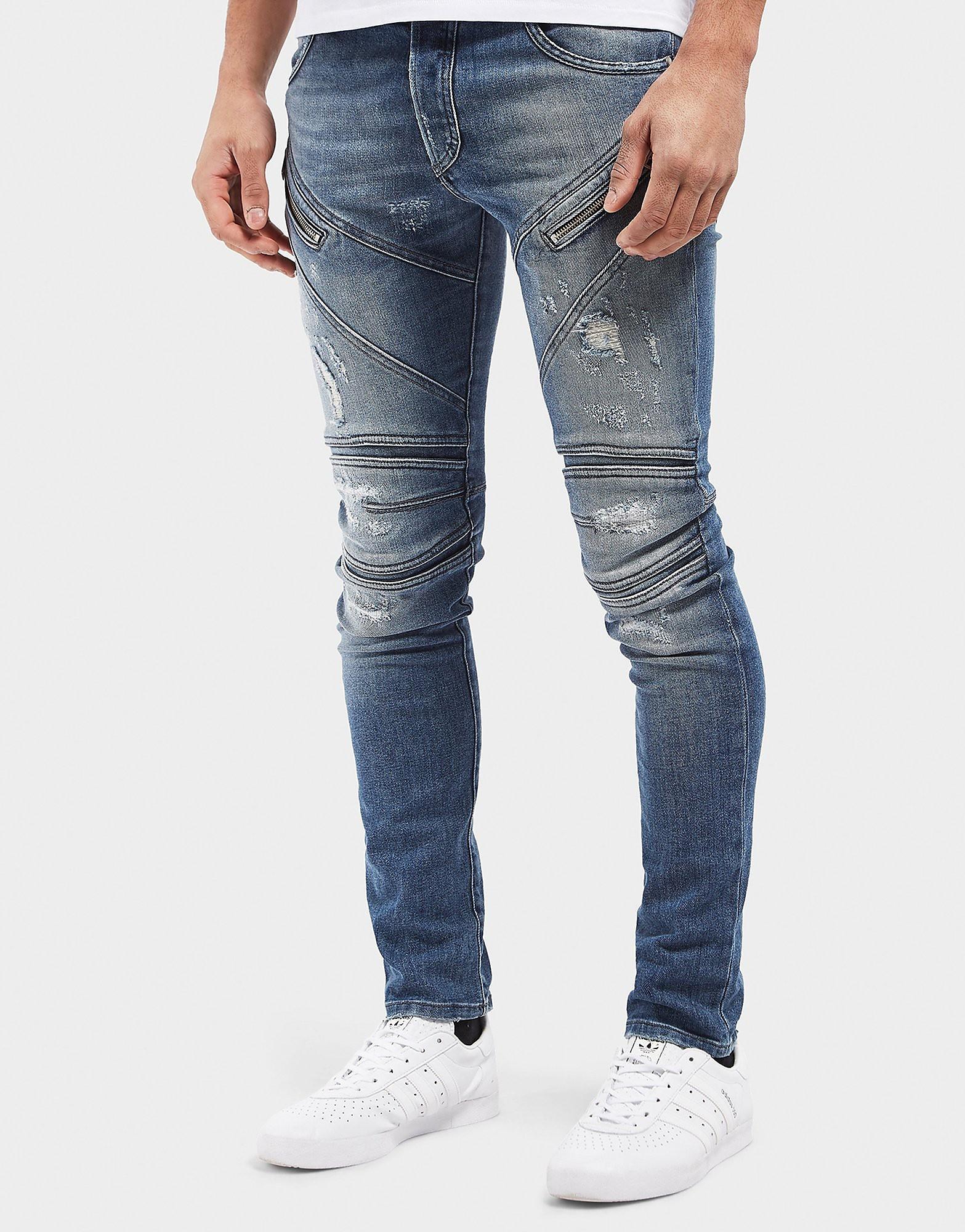 Just Cavalli Zip Biker Skinny Jeans