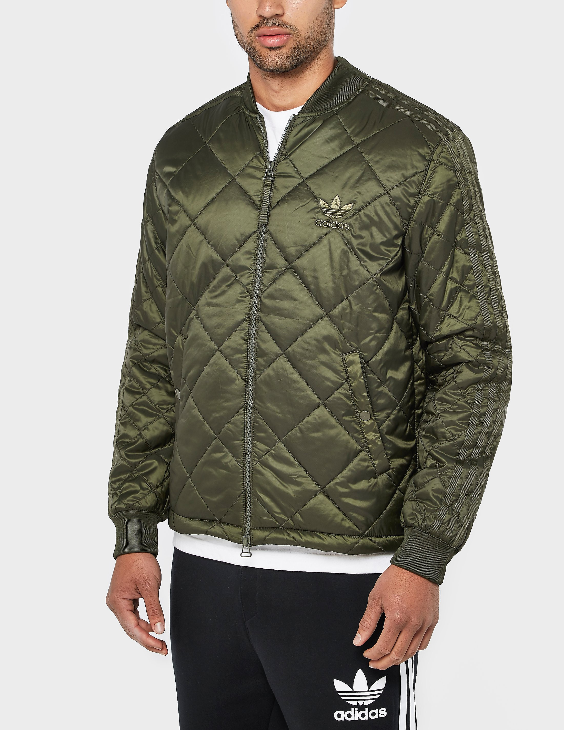 adidas Originals Superstar Quilted Jacket  Olive Olive