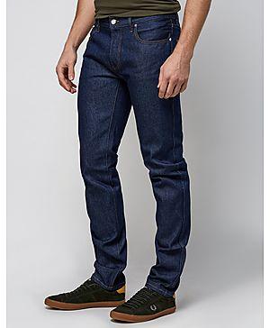 Lacoste L!VE Slim Fit Selvedge Raw Denim Jeans