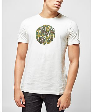 Pretty Green Riley Camo Logo T-Shirt