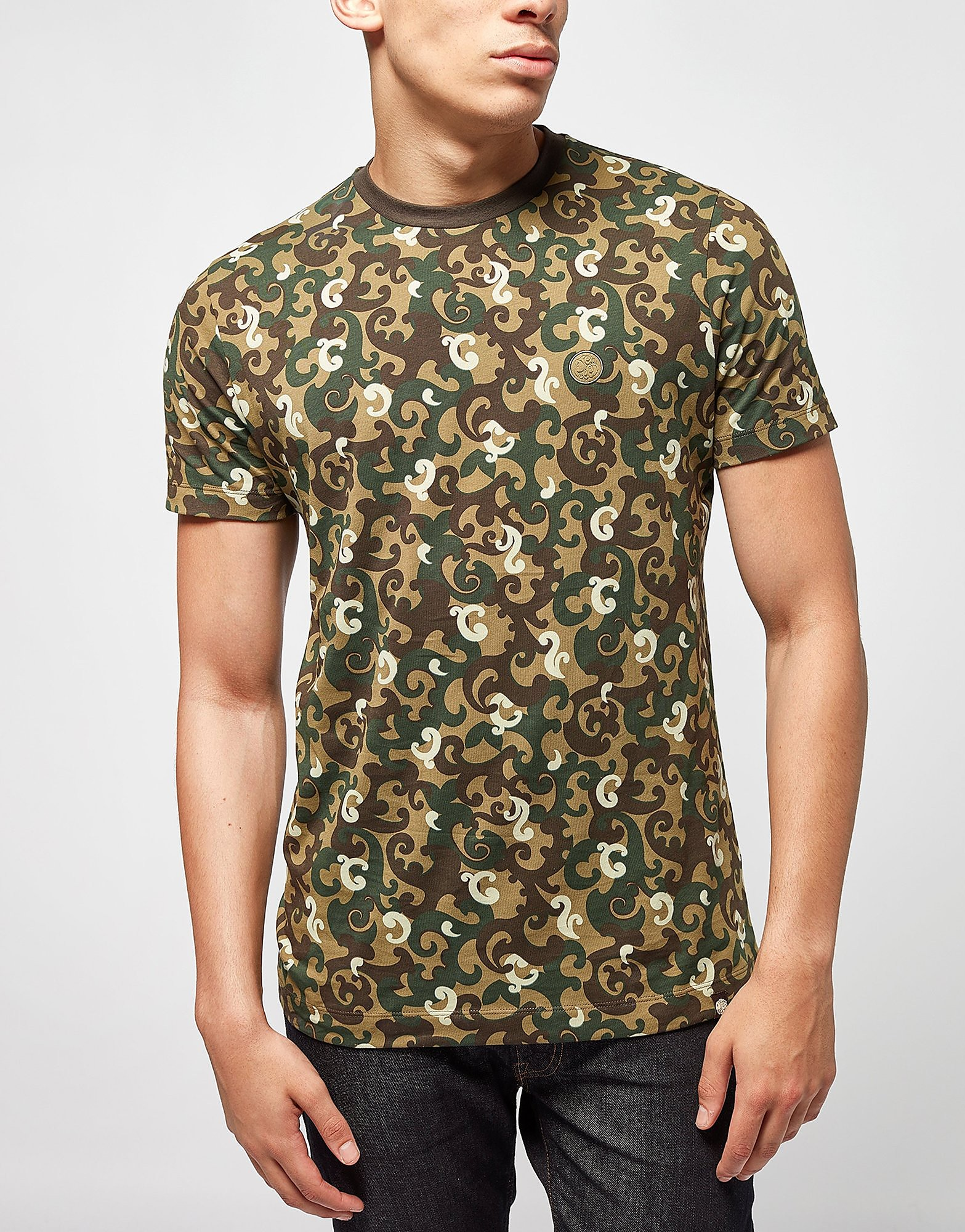 Pretty Green Riley Aop Camo T-Shirt