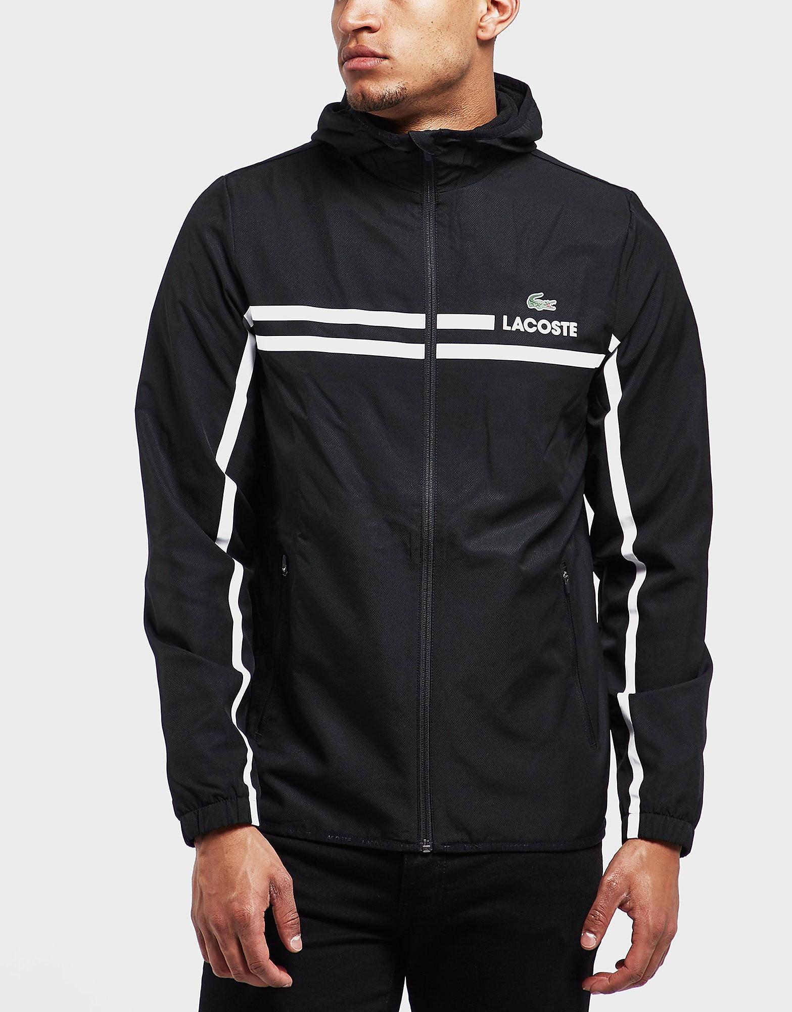 Lacoste Zip Through Hooded Stripe Jacket