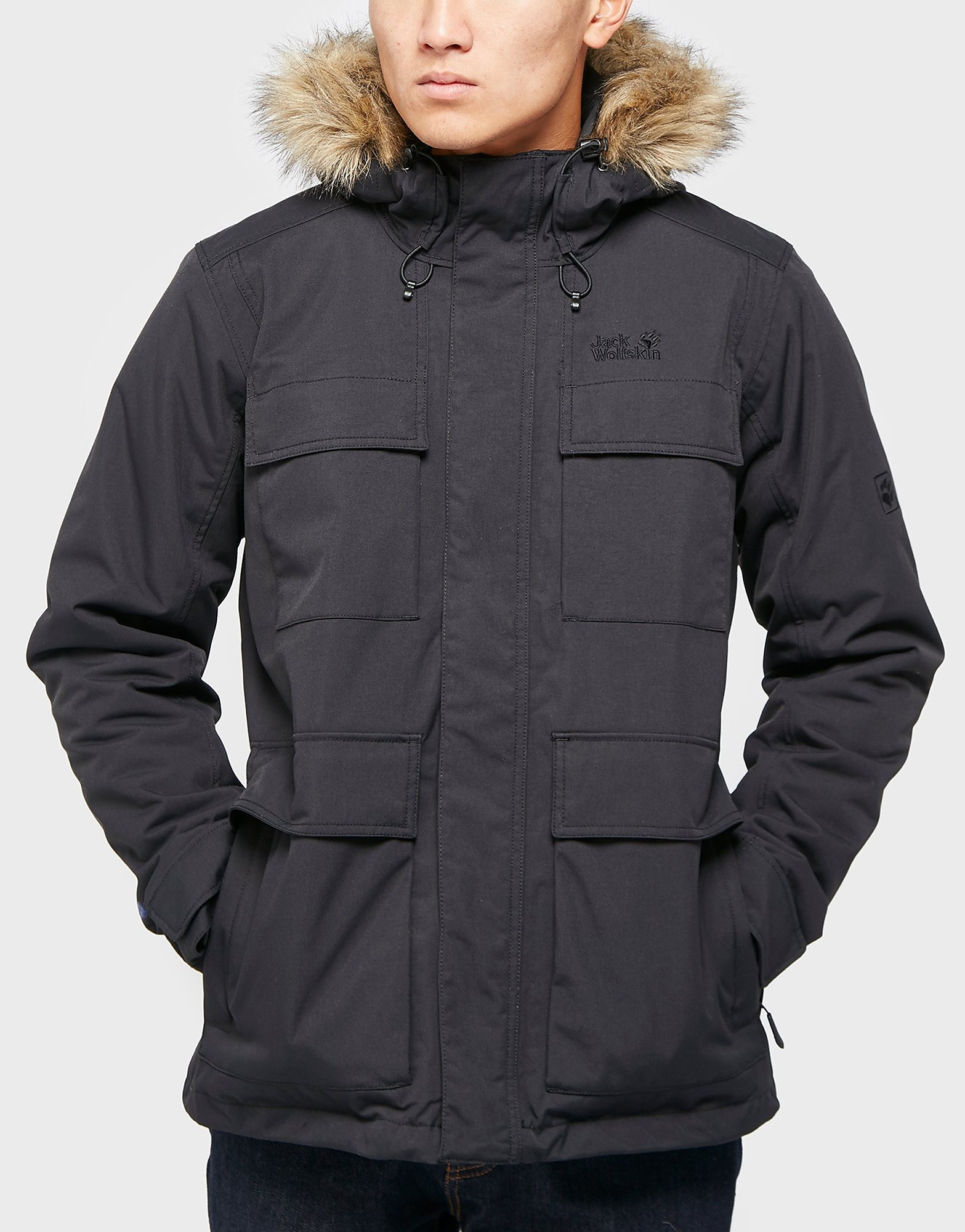 Jack Wolfskin Point Barrow Parka Jacket  Black Black