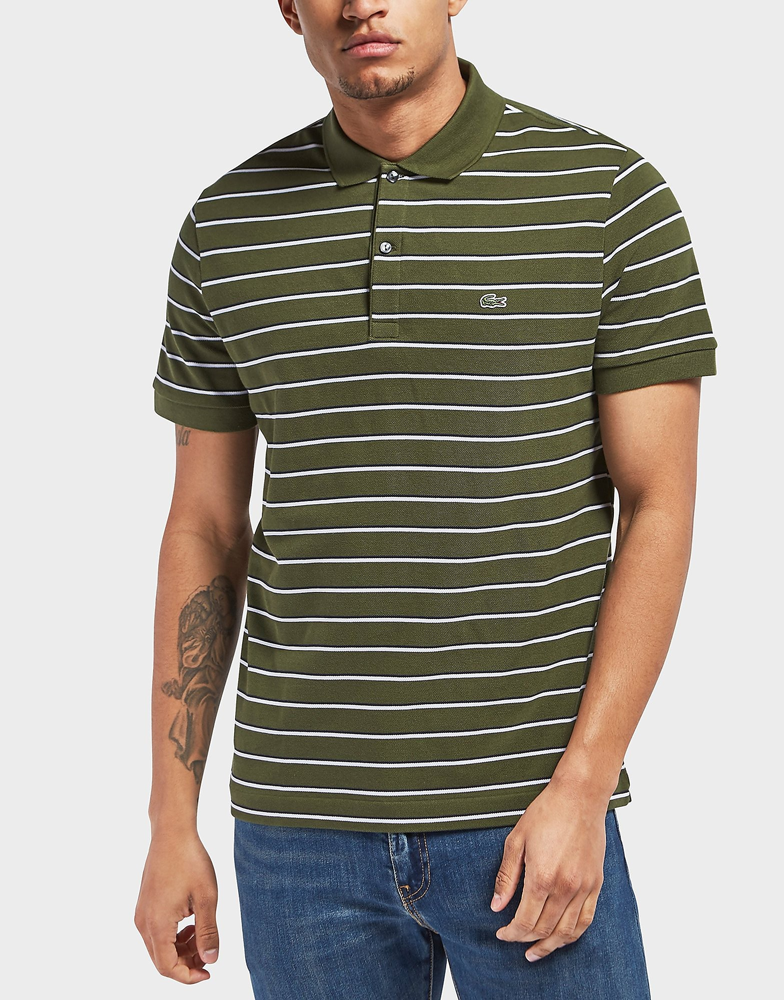 Lacoste Pique Stripe Short Sleeve Polo Shirt