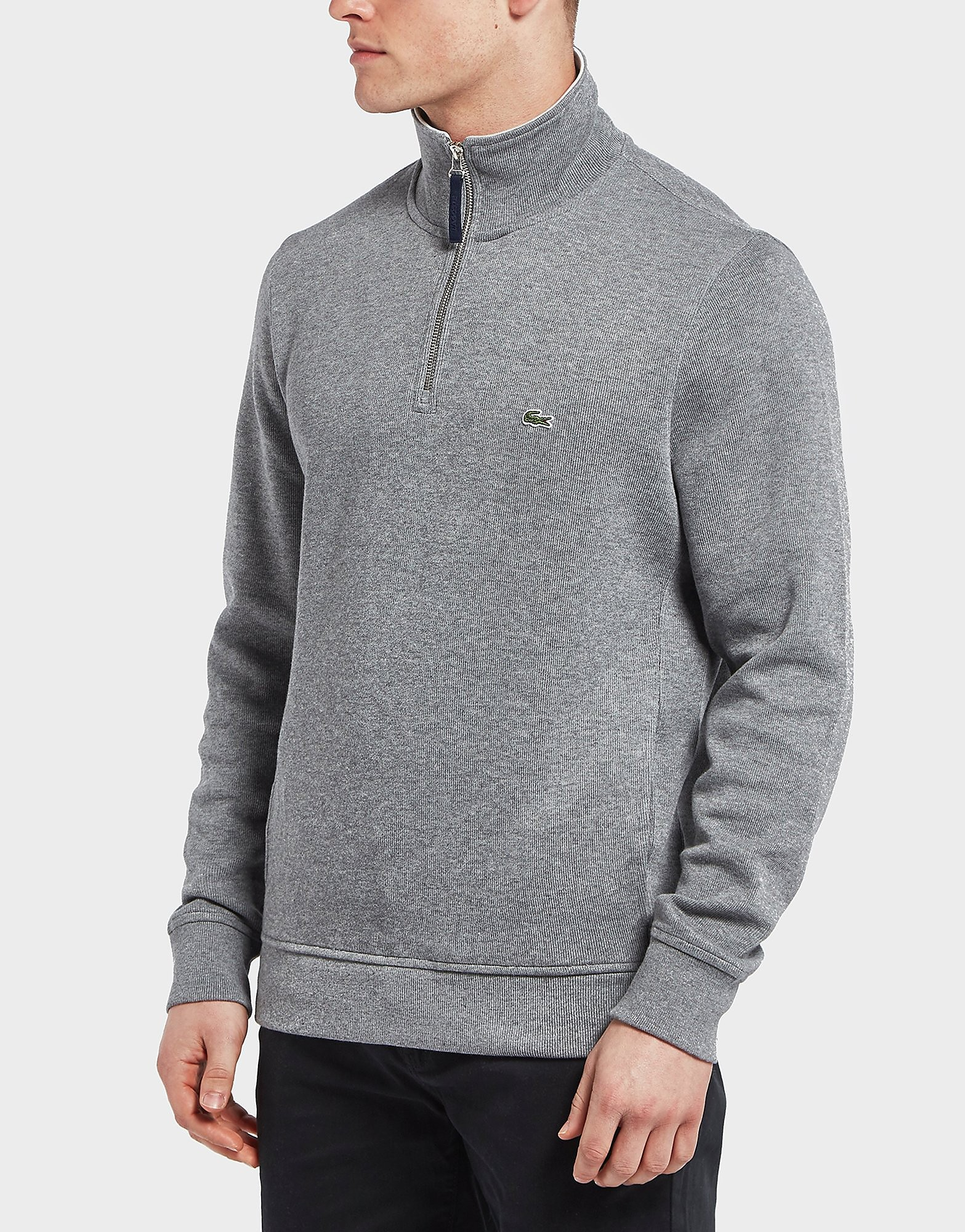 Lacoste Rib Interlock Half Zip Sweatshirt