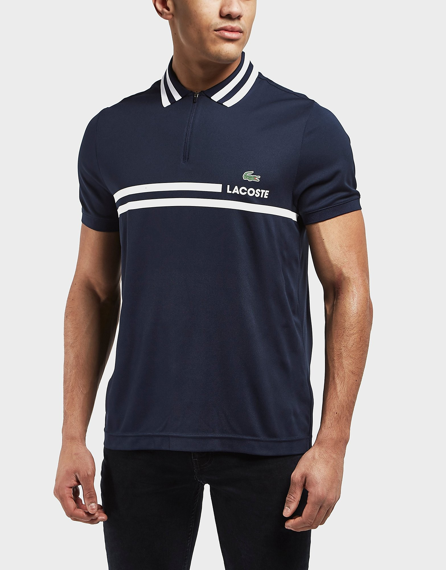 Lacoste Tipped Pique Poly Short Sleeve Polo Shirt