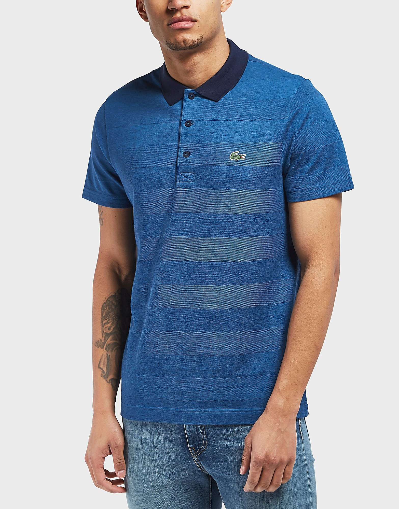 Lacoste Beye Stripe Short Sleeve Polo Shirt