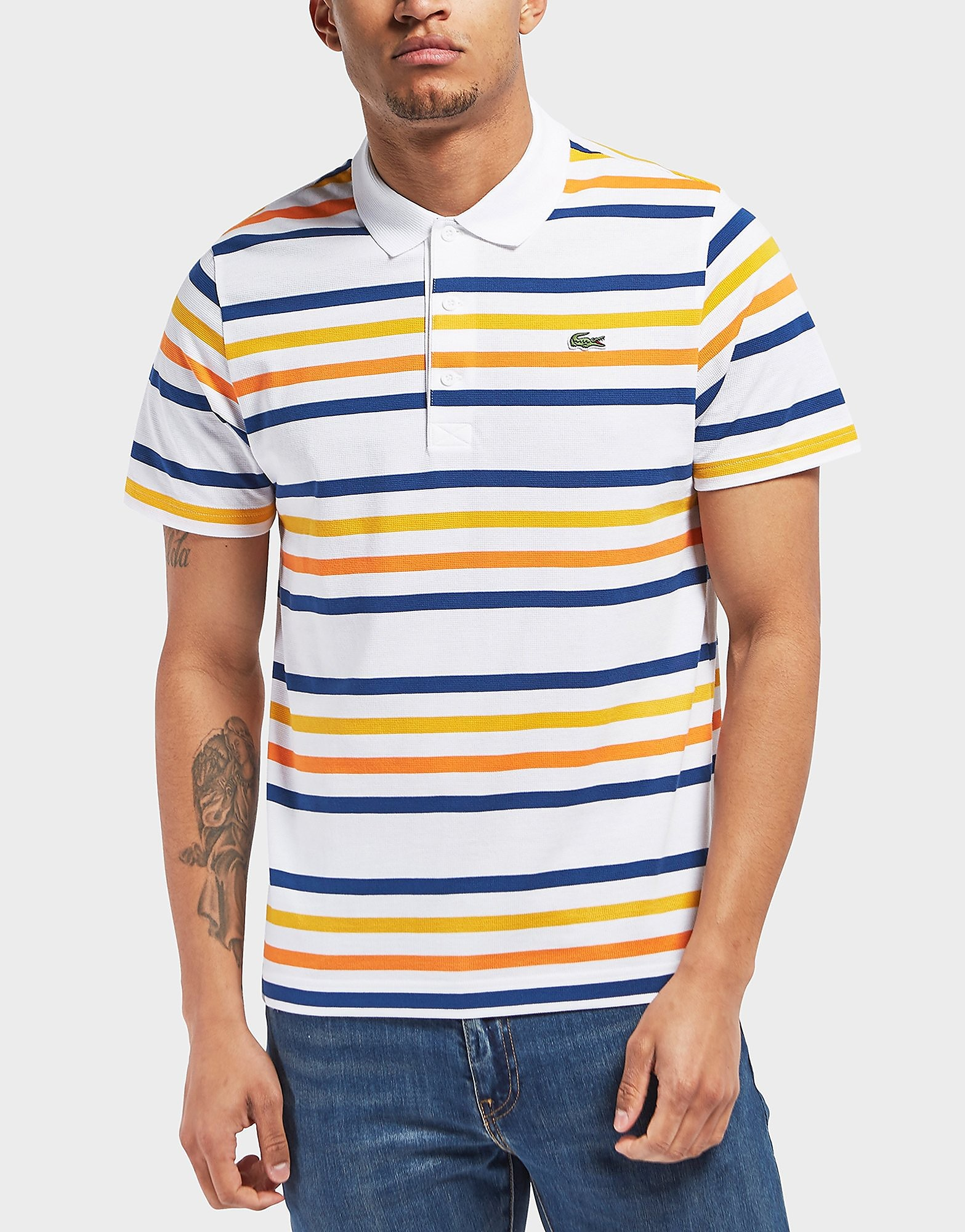 Lacoste Stripe Short Sleeve Polo Shirt