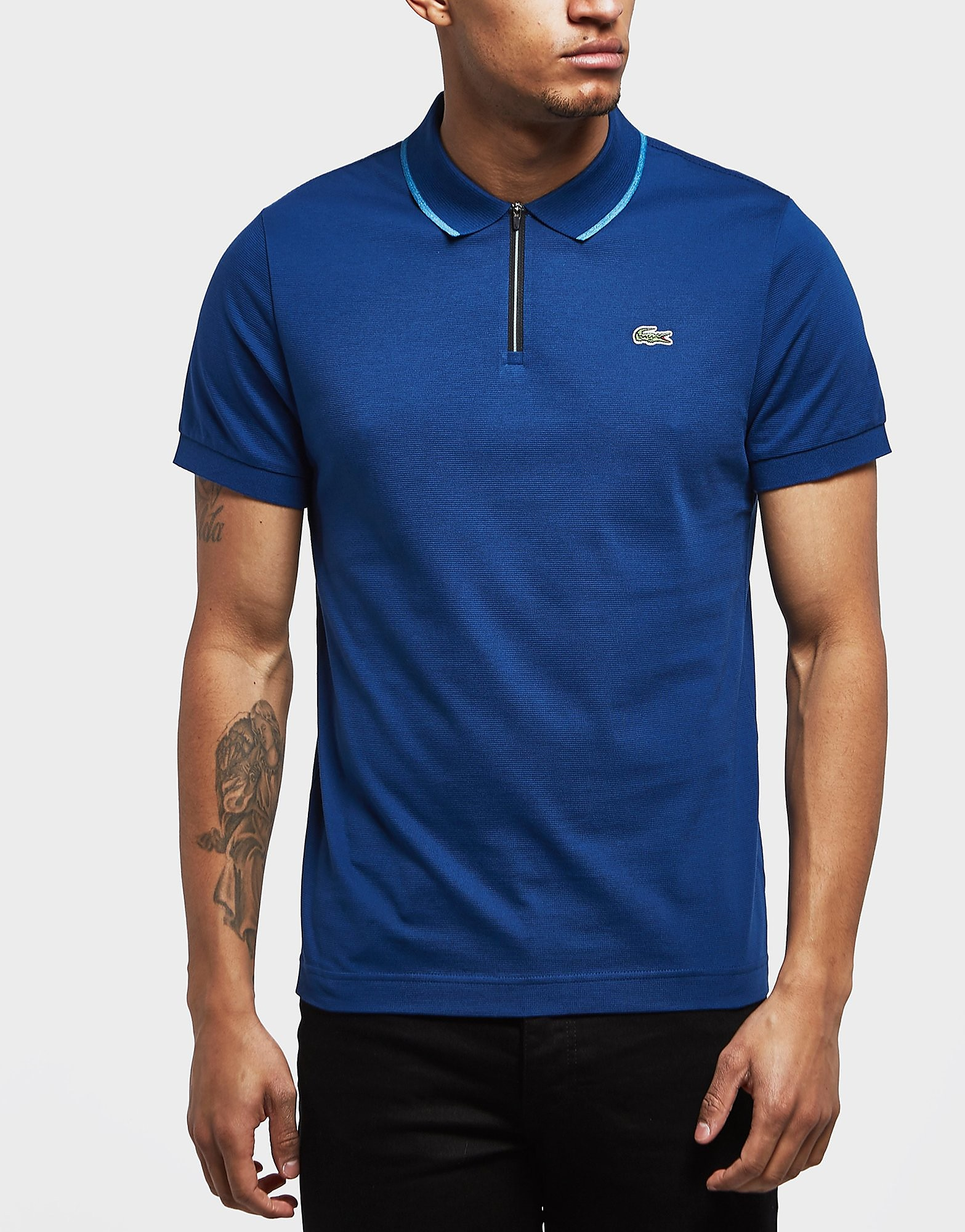 Lacoste Tipped Short Sleeve Zip Polo Shirt