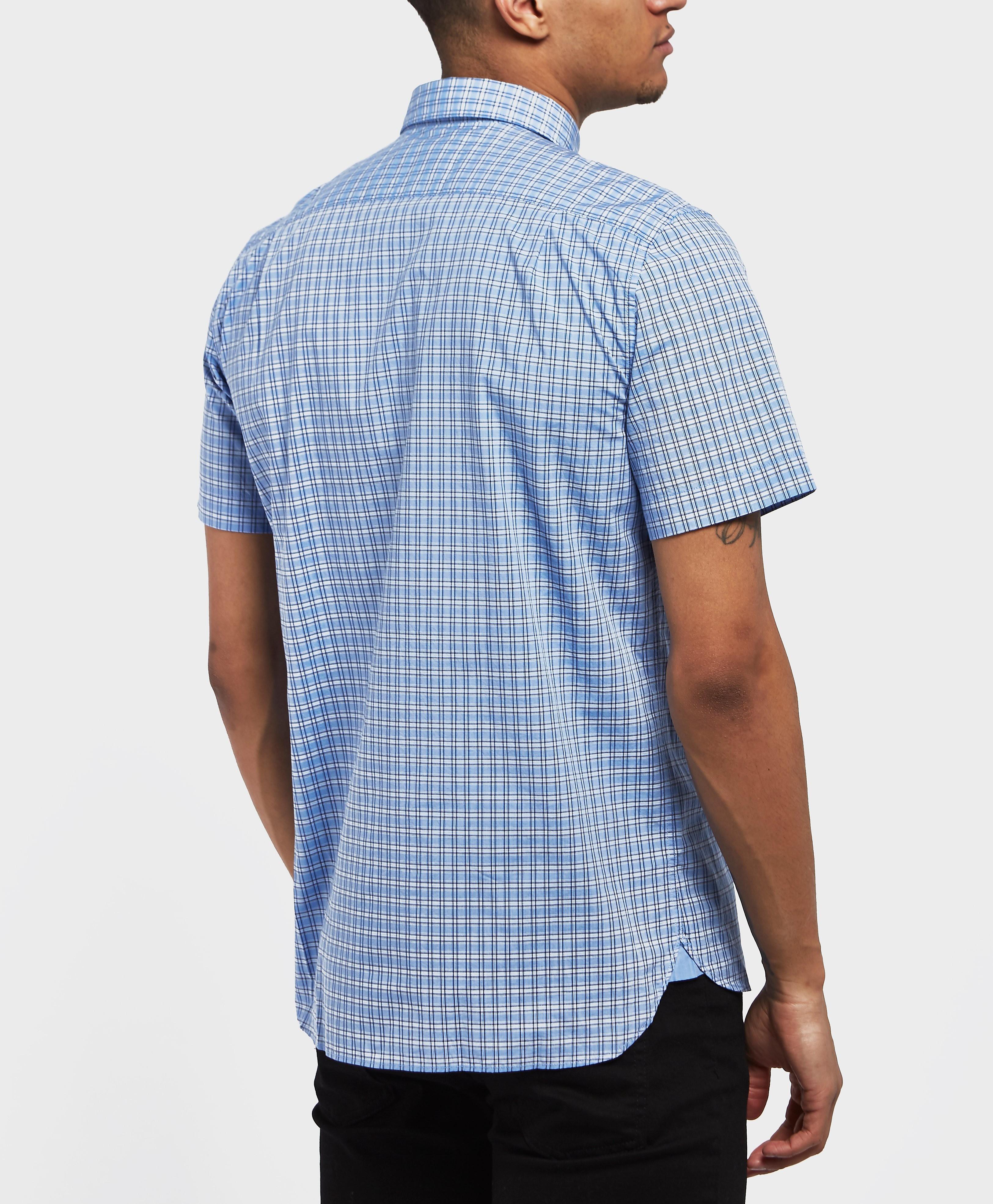 Lacoste Poplin Check Short Sleeve Shirt