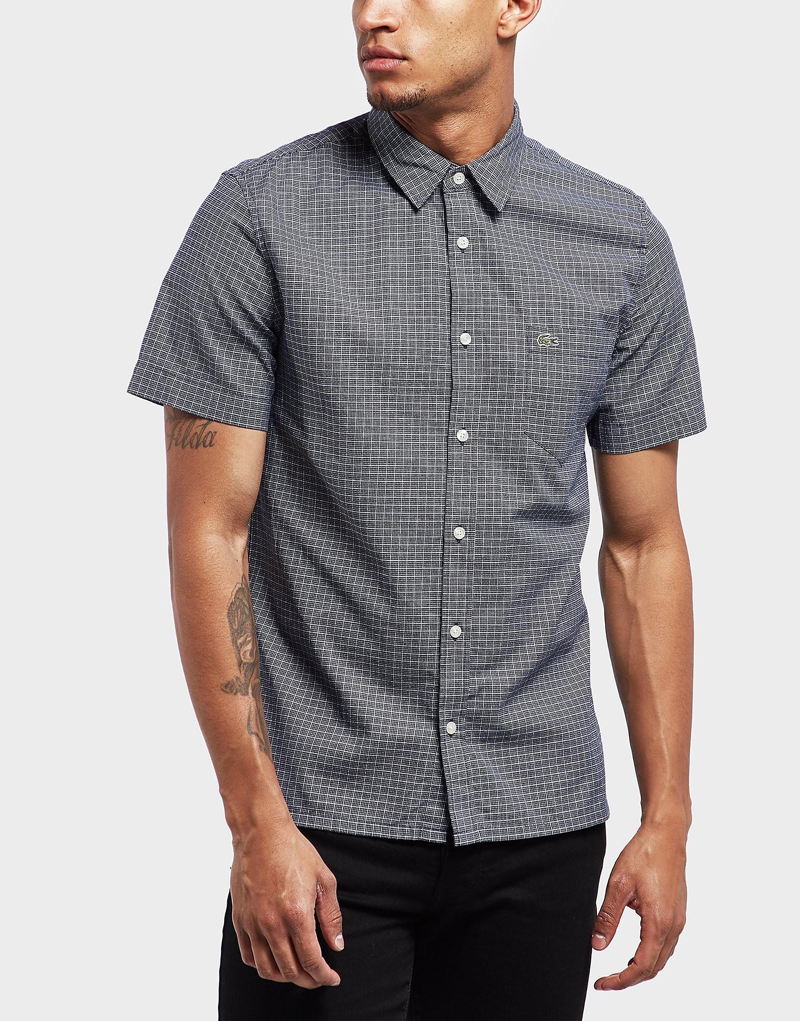 Lacoste Jacquard Poplin Short Sleeve Shirt