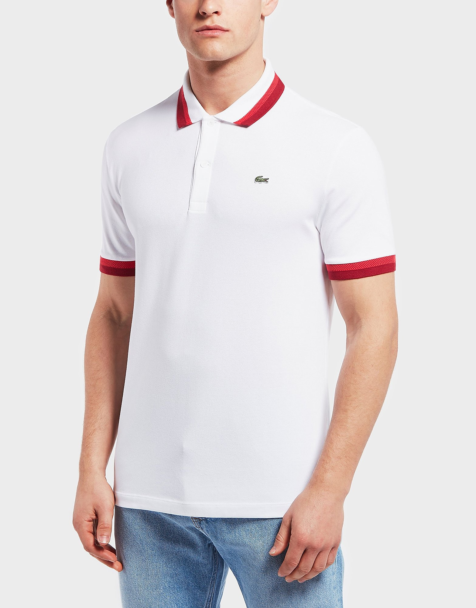 Lacoste Pima Double Tip Short Sleeve Polo Shirt