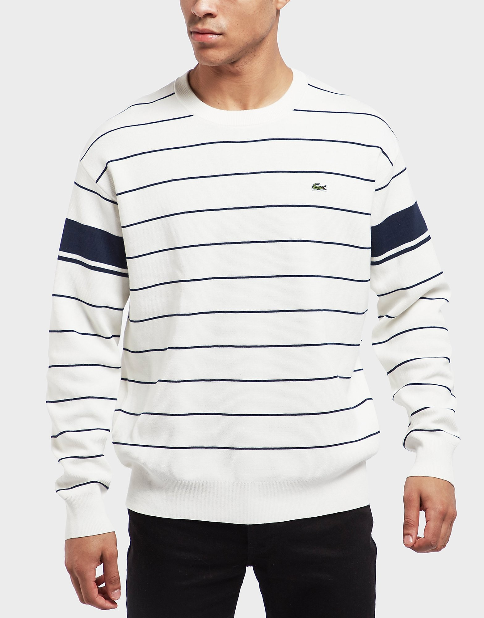 Lacoste Stripe Knitted Sweatshirt