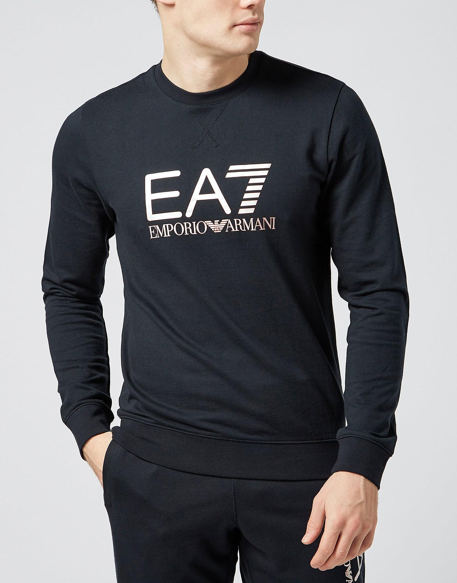 Emporio Armani EA7 Vis Silver Crew Sweatshirt