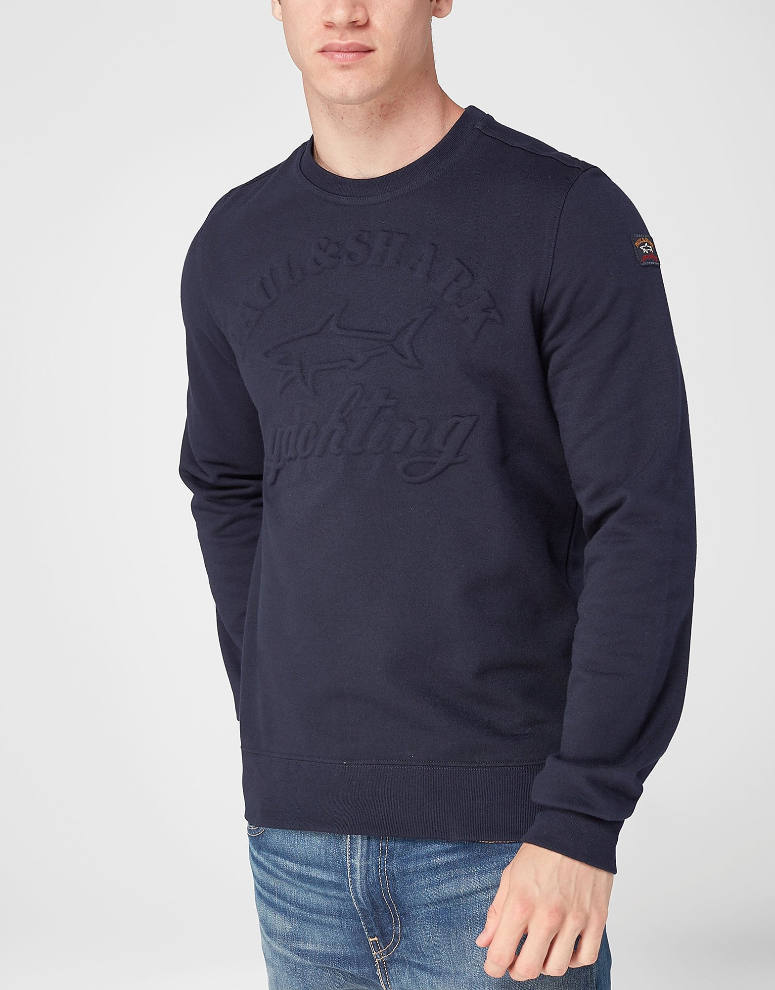 Paul and Shark Embossed Crew Sweatshirt