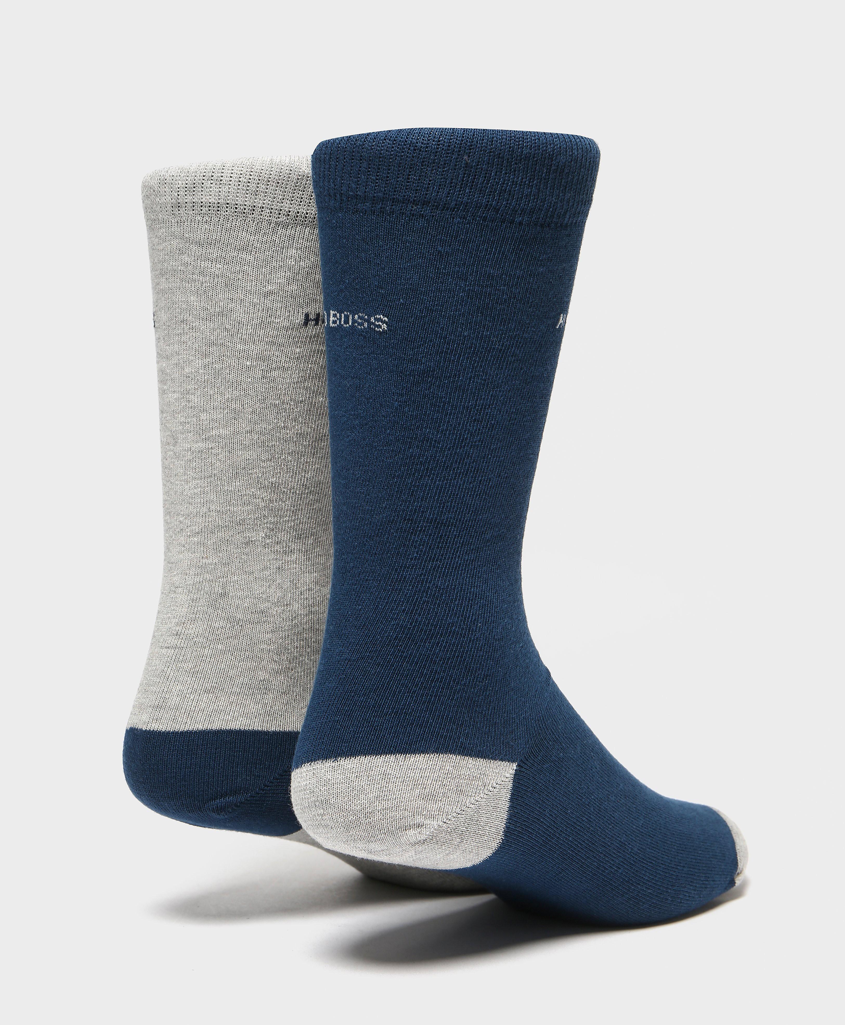 BOSS 2-Pack Heel Toe Socks
