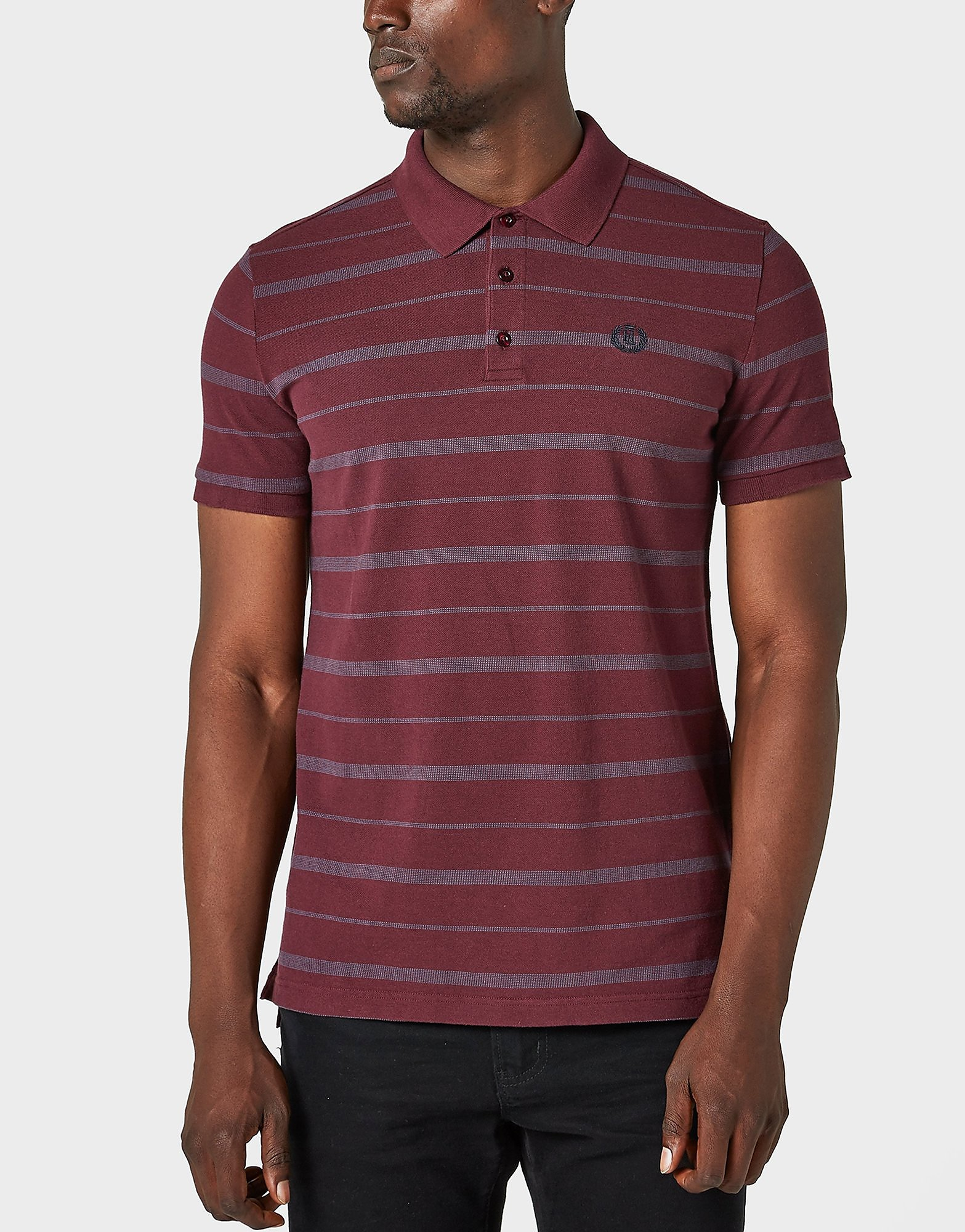 Henri Lloyd Sea Stripe Polo Shirt  Red Red