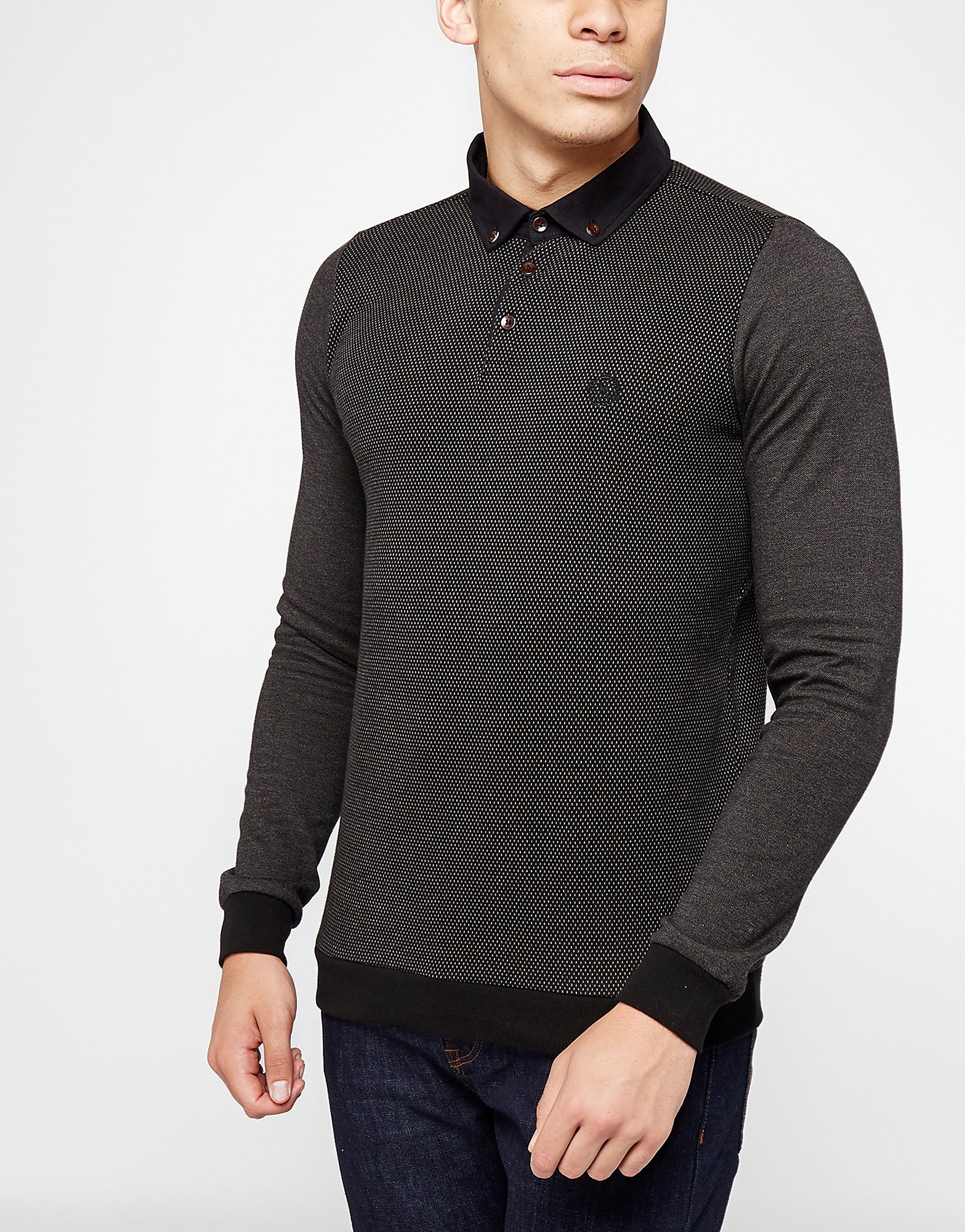Henri Lloyd Kyre Long Sleeve Polo Shirt  Black Black