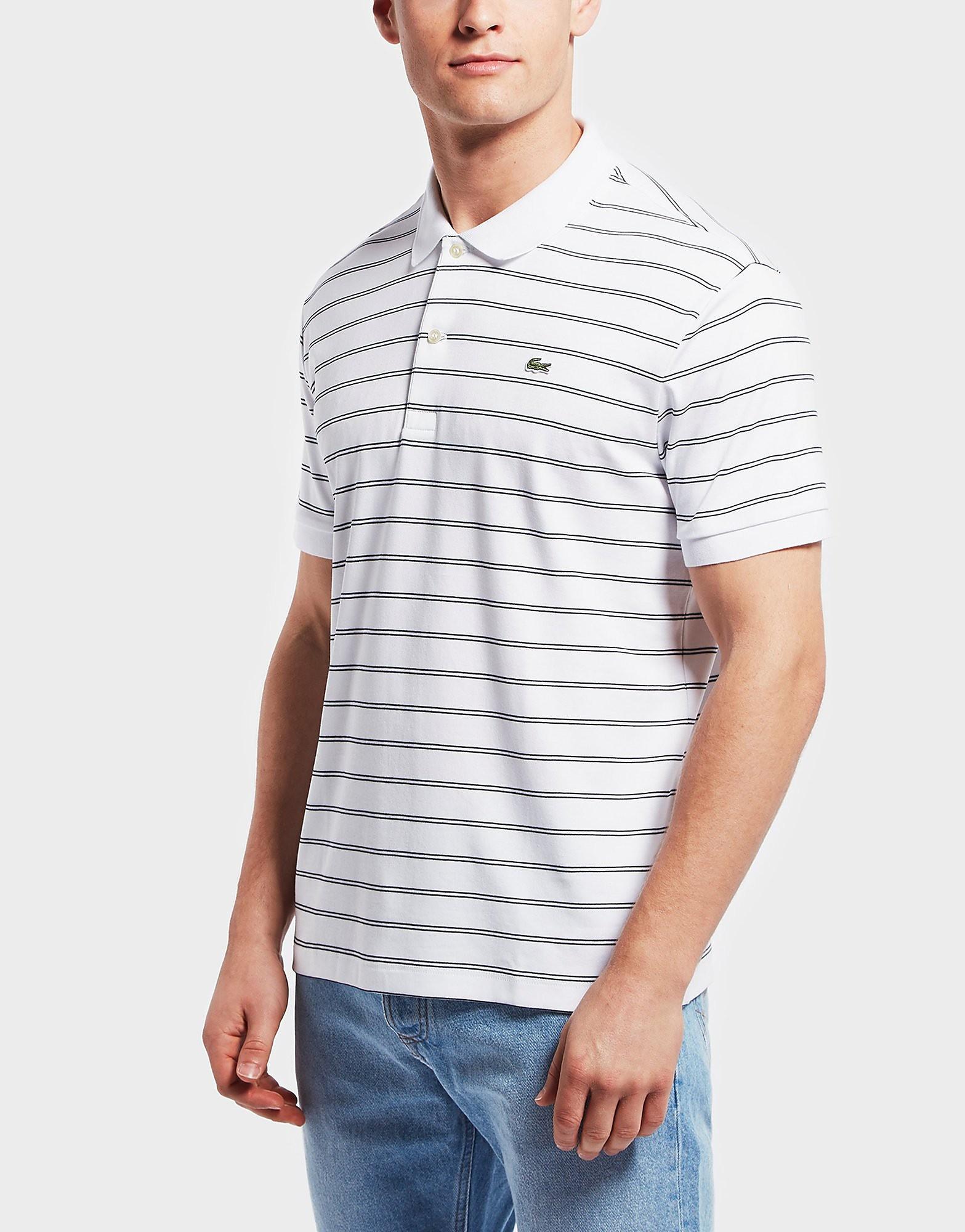 Lacoste Pima Stripe Short Sleeve Polo Shirt
