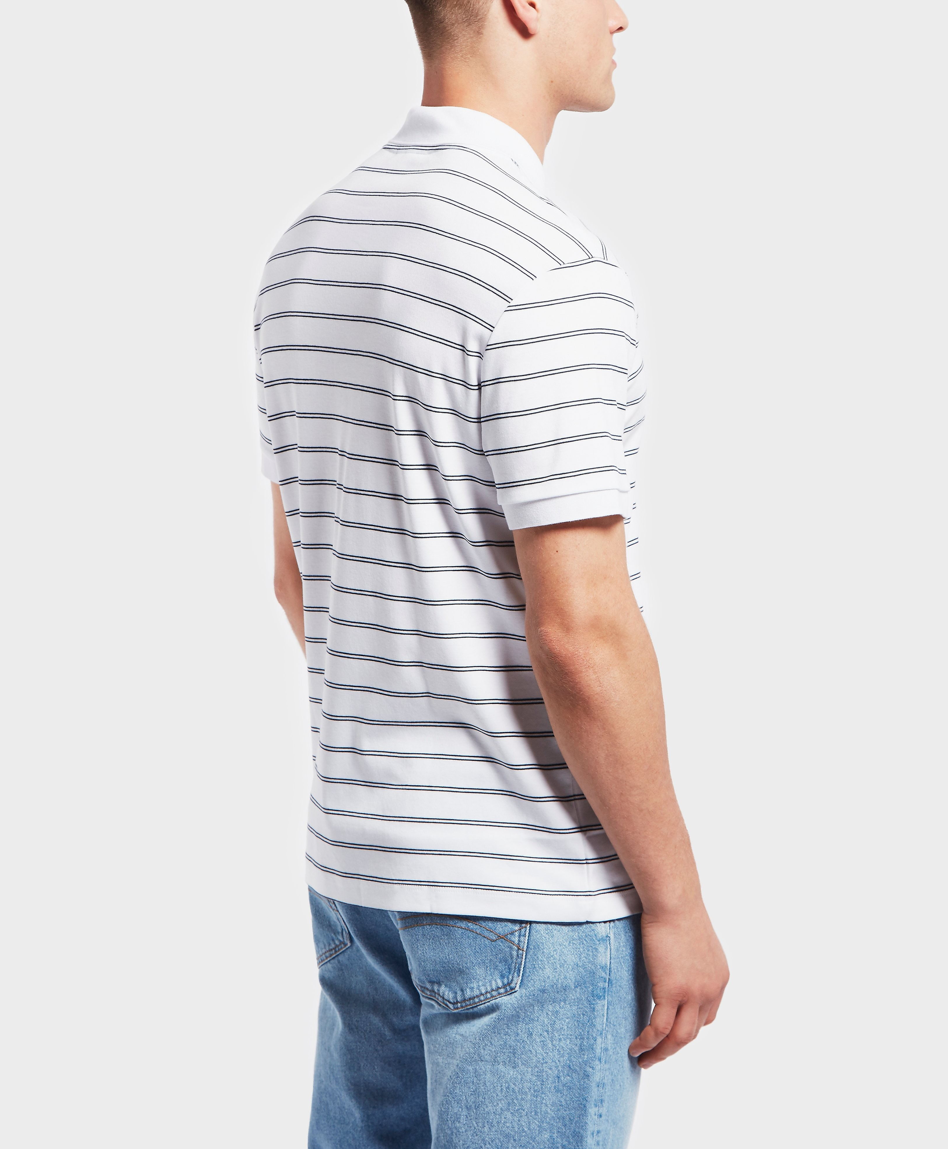 Lacoste Pima Stripe Short Sleeve Polo Shirt