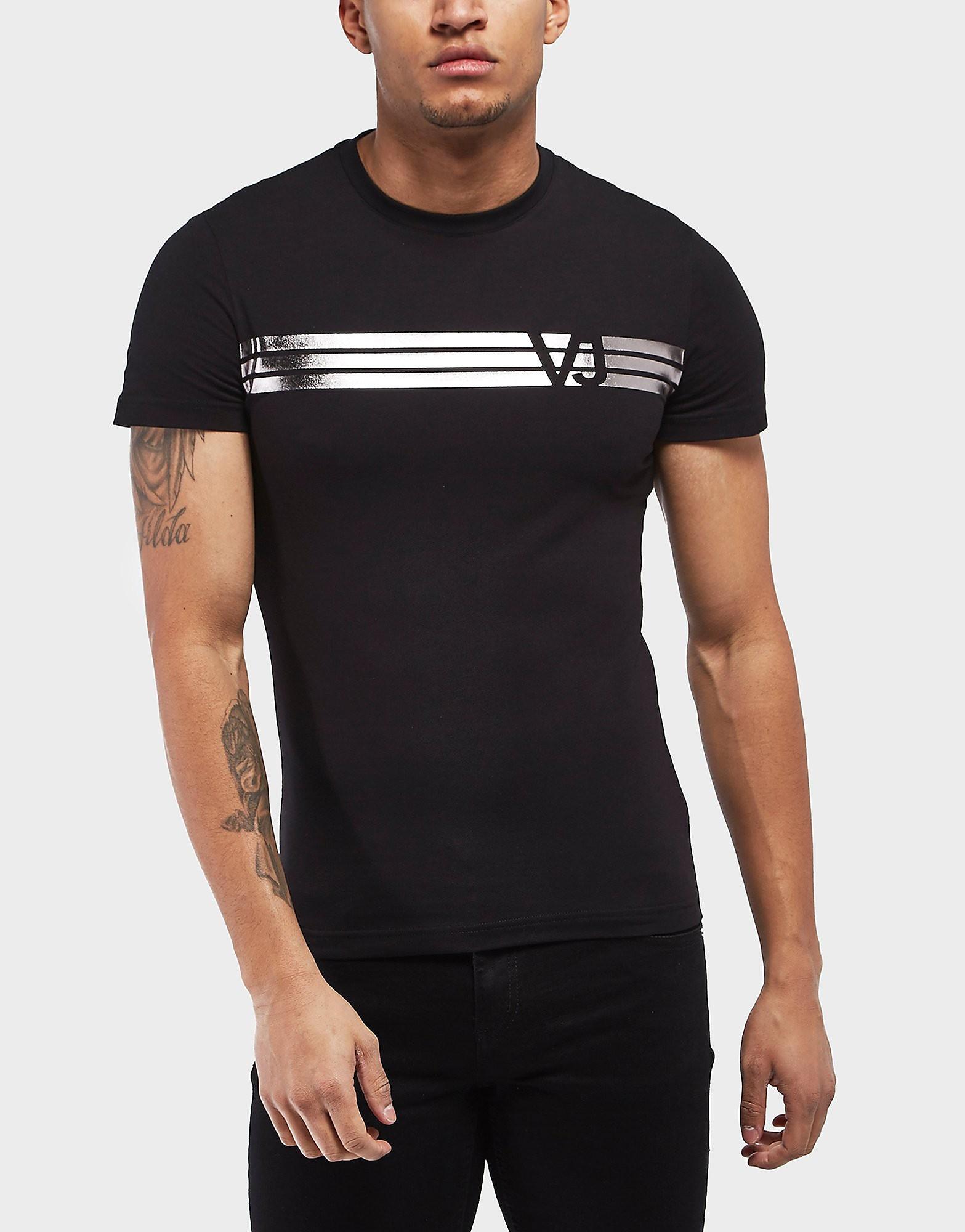 Versace Foil Stripe Short Sleeve T-Shirt