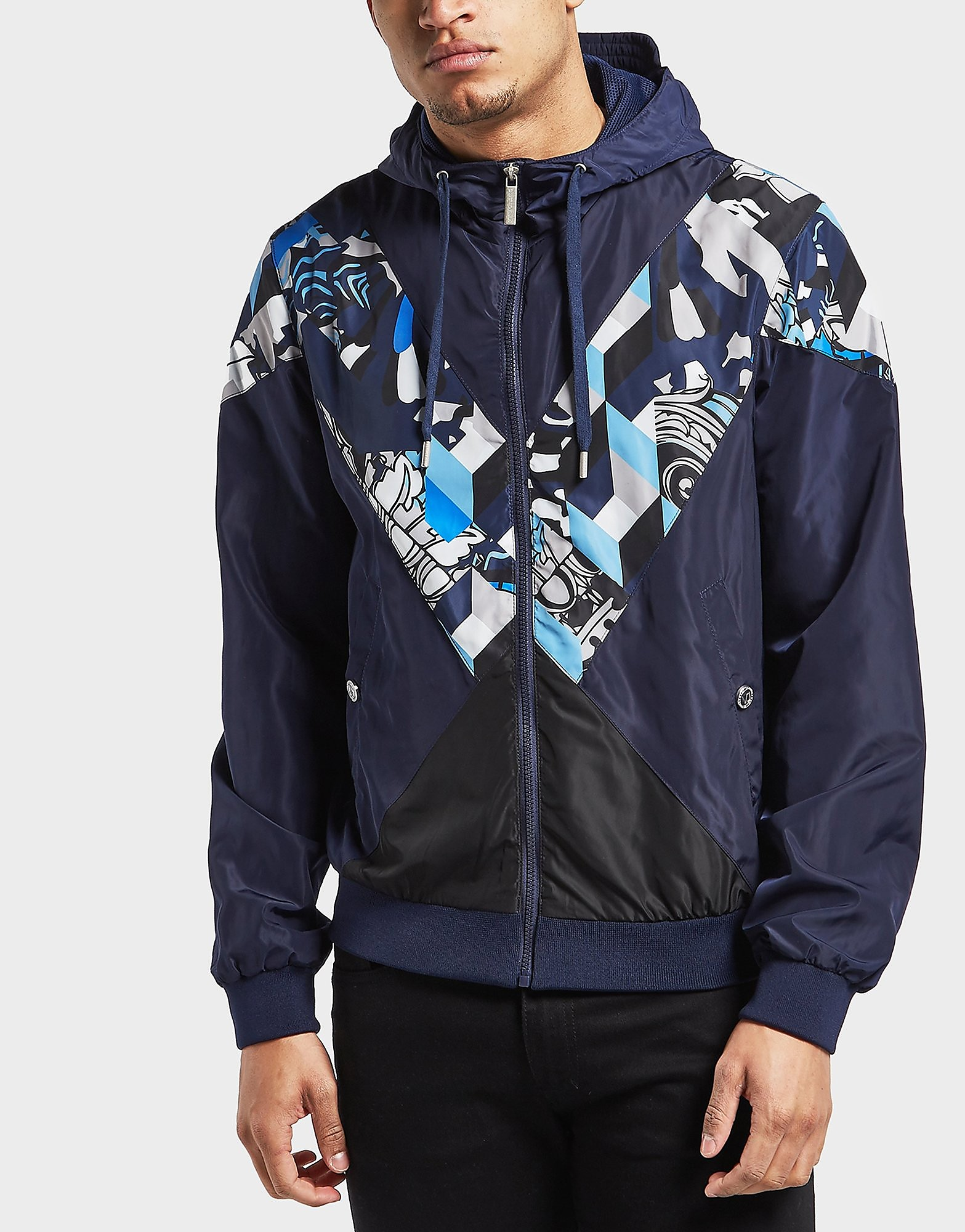 Versace Print Panel Hooded Jacket