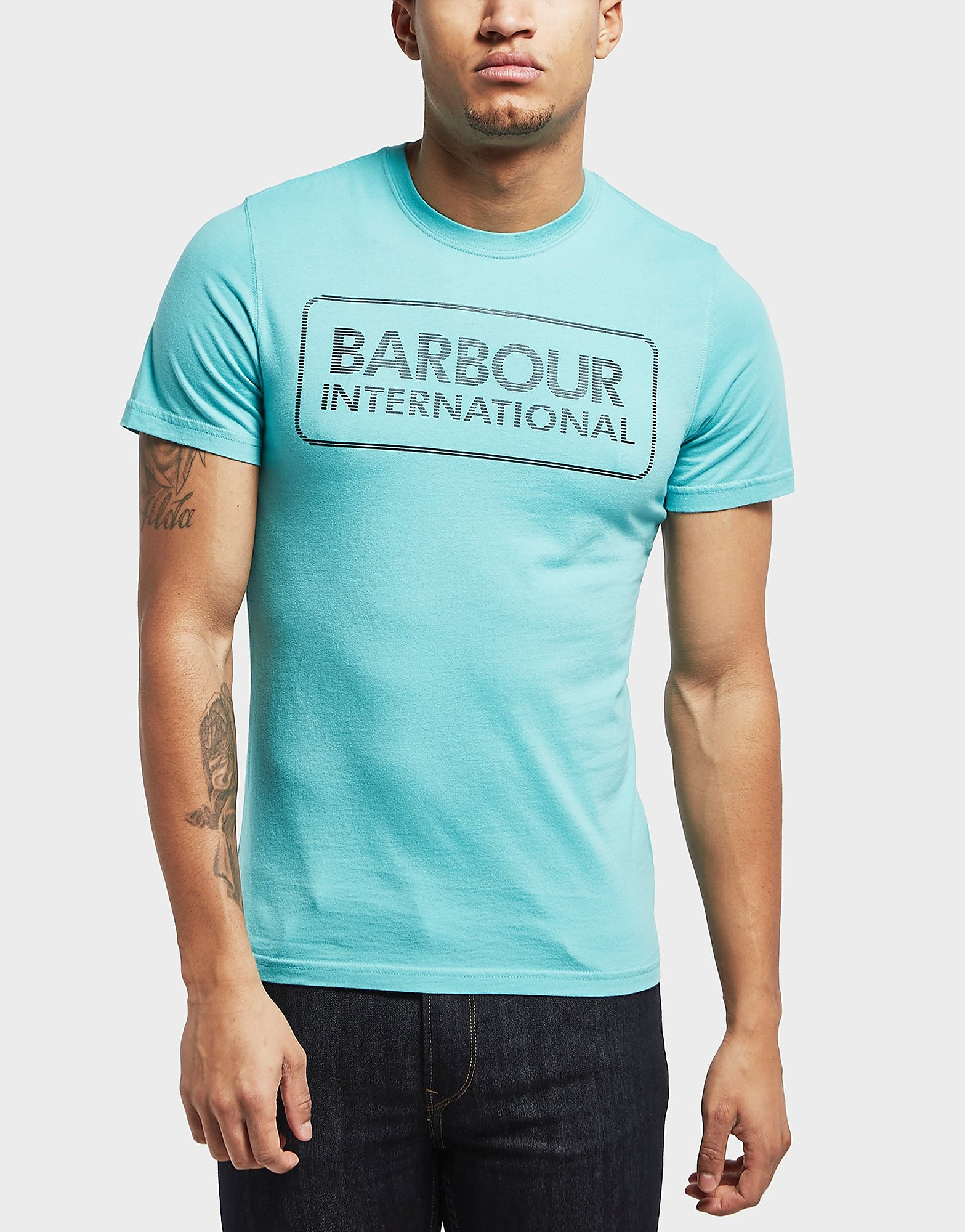 Barbour International Line Logo Short Sleeve T-Shirt