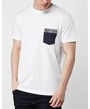 Fred Perry Gingham Pocket T-Shirt