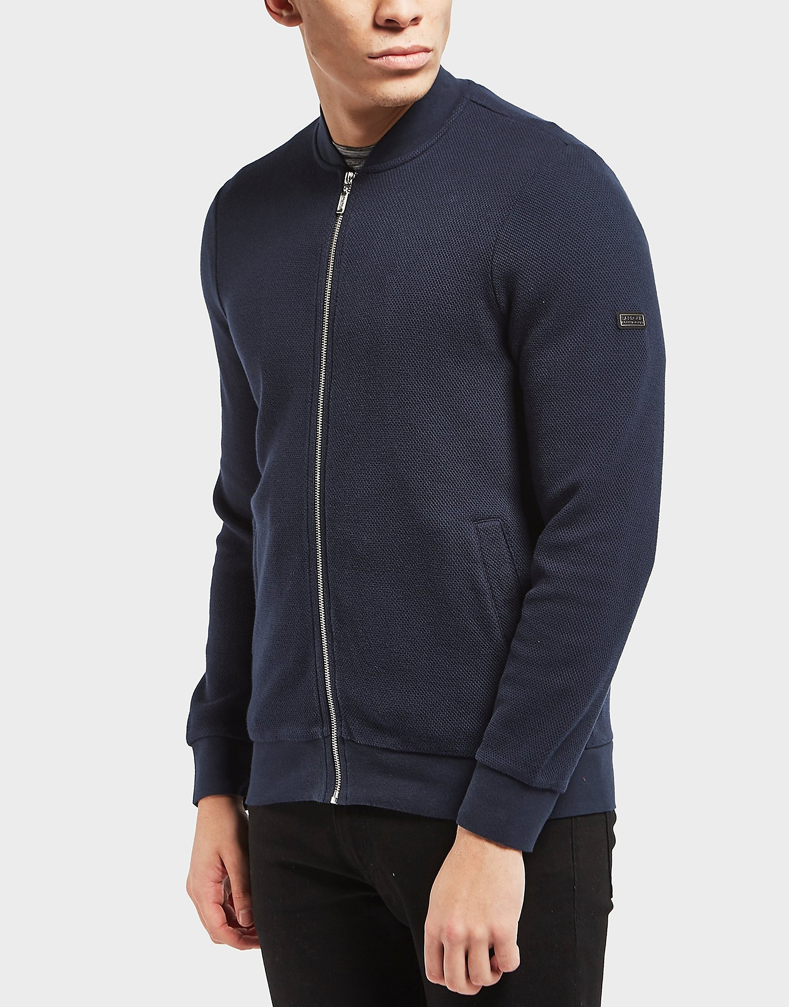 Barbour International Grip Fleece Bomber Track Top