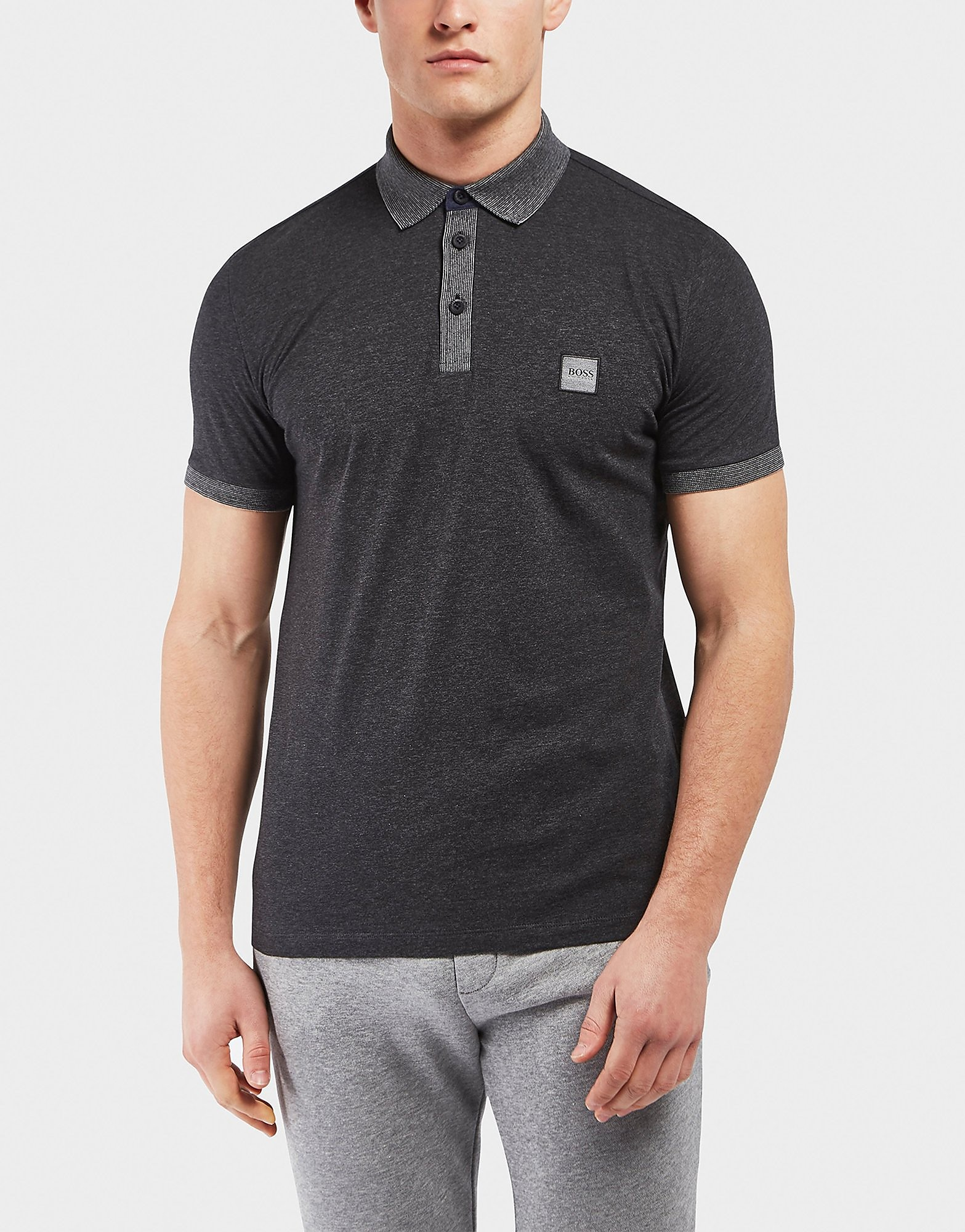BOSS Orange Pother Slub Short Sleeve Polo Shirt