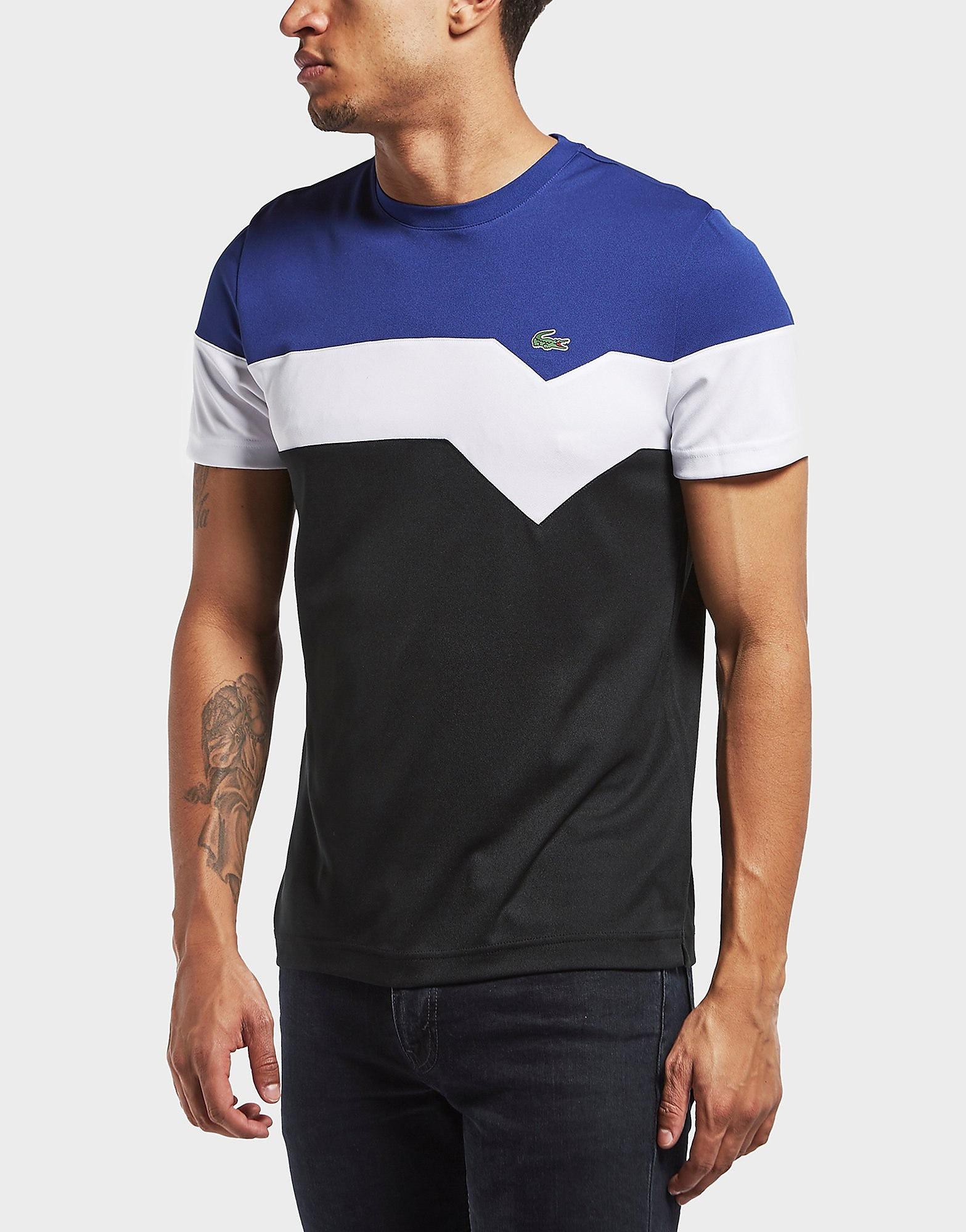Lacoste Chevron Poly Short Sleeve T-Shirt