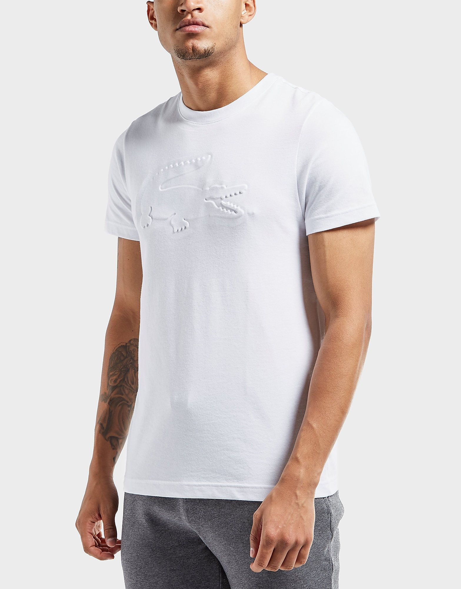 Lacoste Embossed Short Sleeve T-Shirt