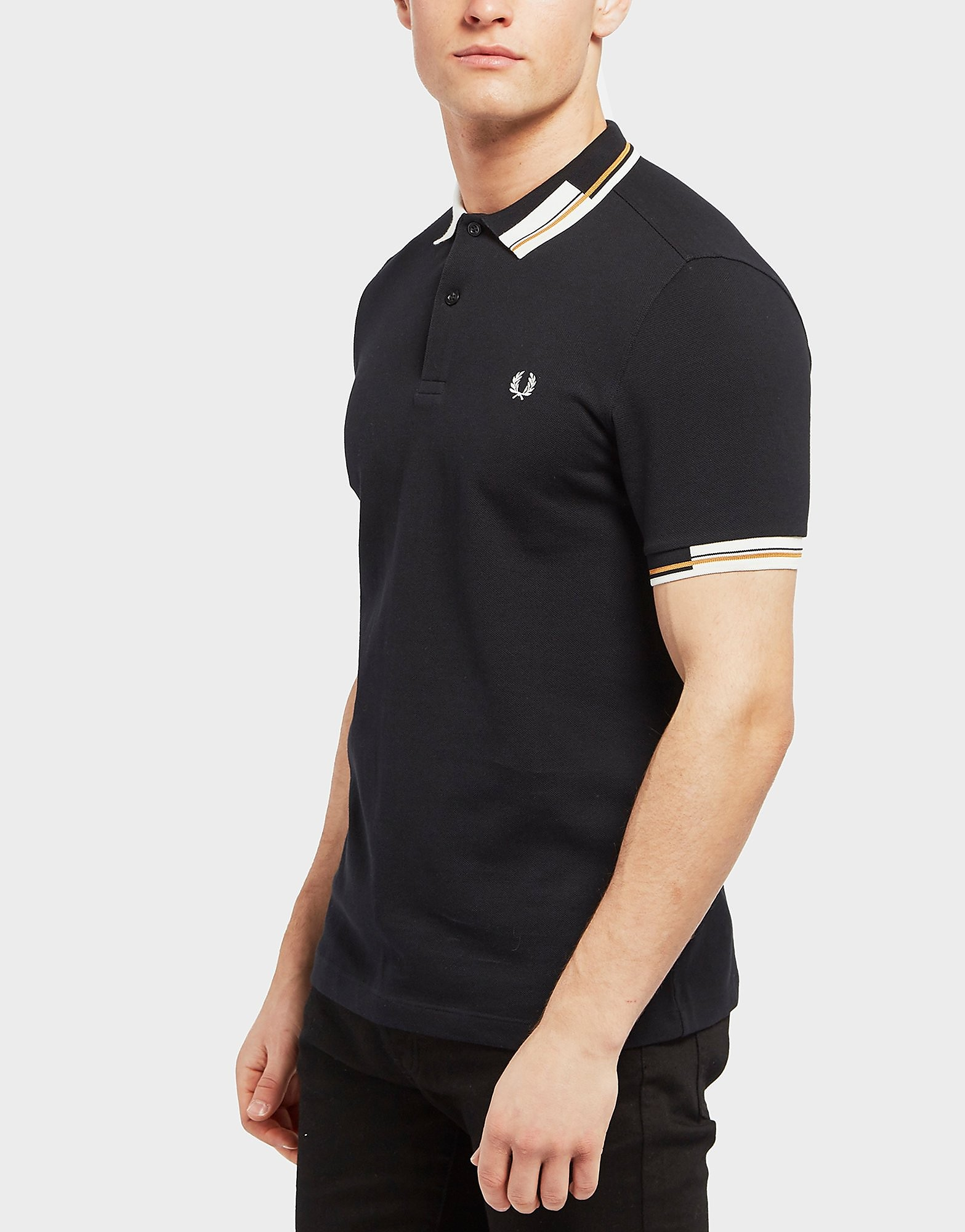 Fred Perry Abstract Tipped Short Sleeve Polo Shirt