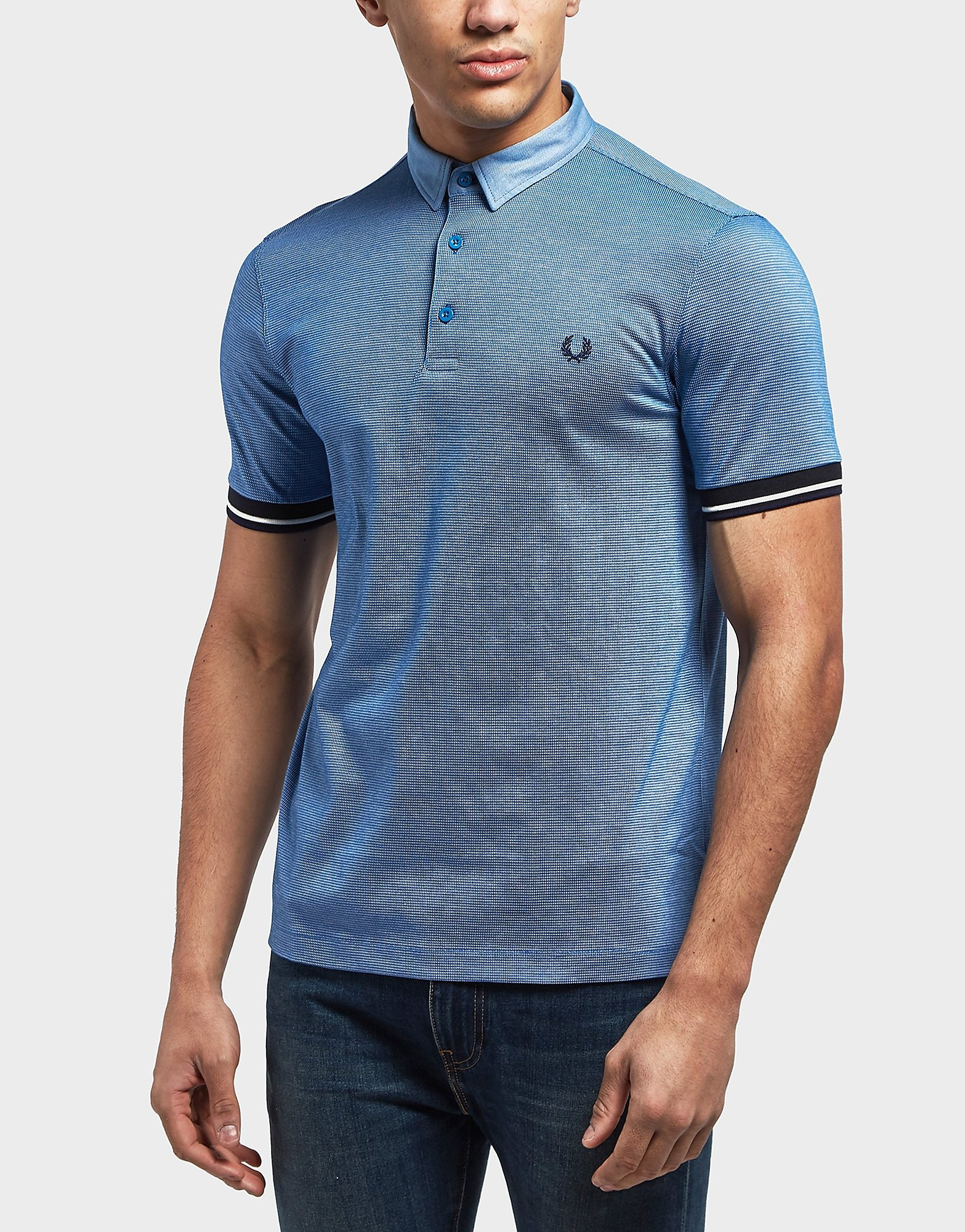 Fred Perry Woven Collar Short Sleeve Polo Shirt