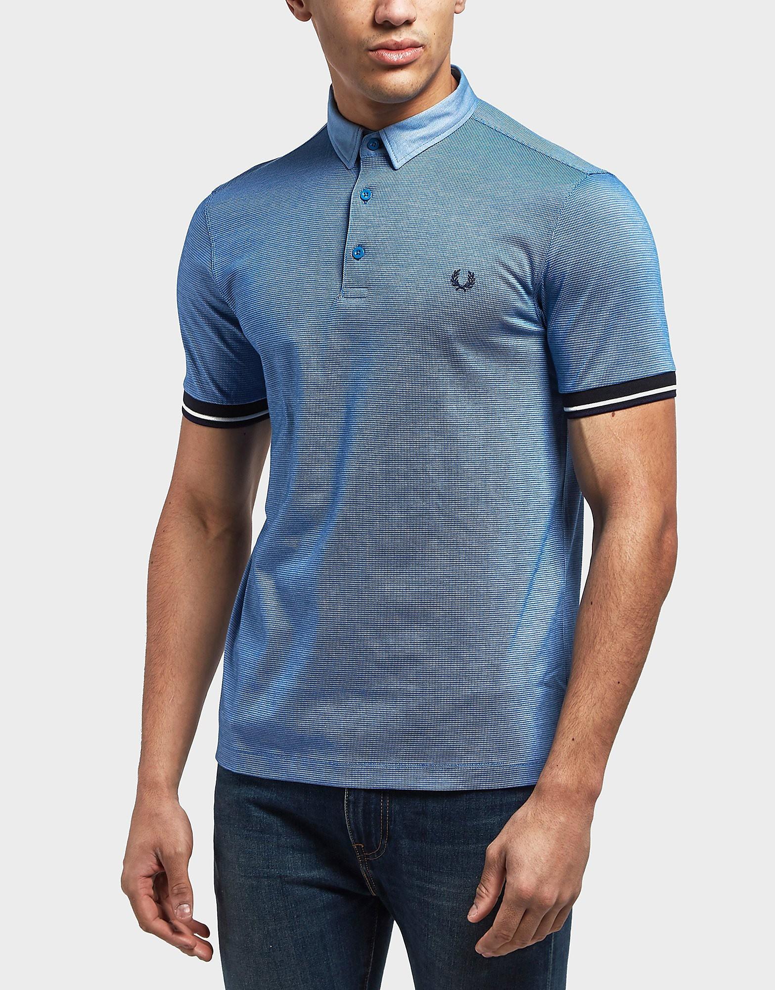 Fred Perry Woven Collar Short Sleeve Polo Shirt