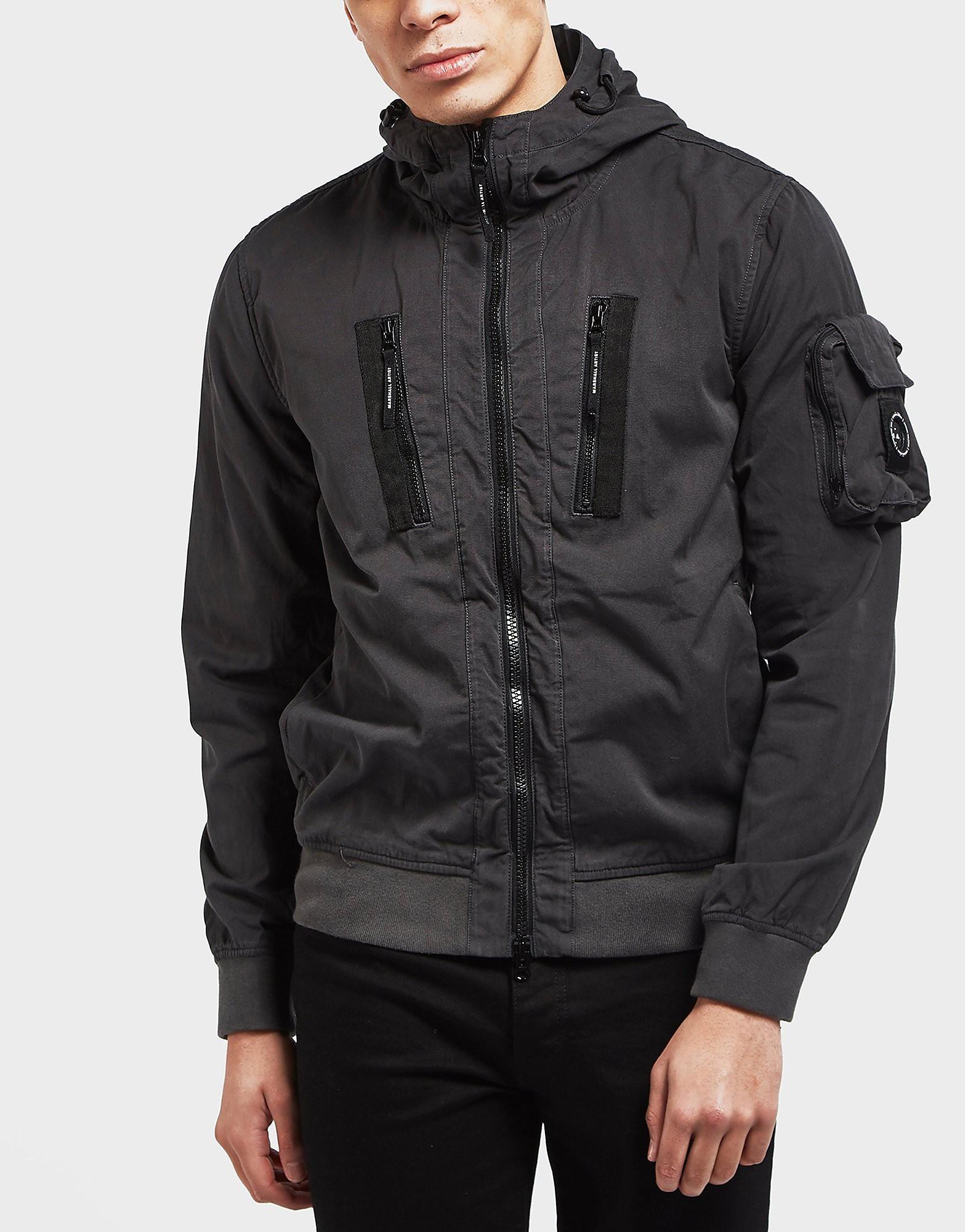Marshall Artist Garment Dyed Hooded Bomber Jacket