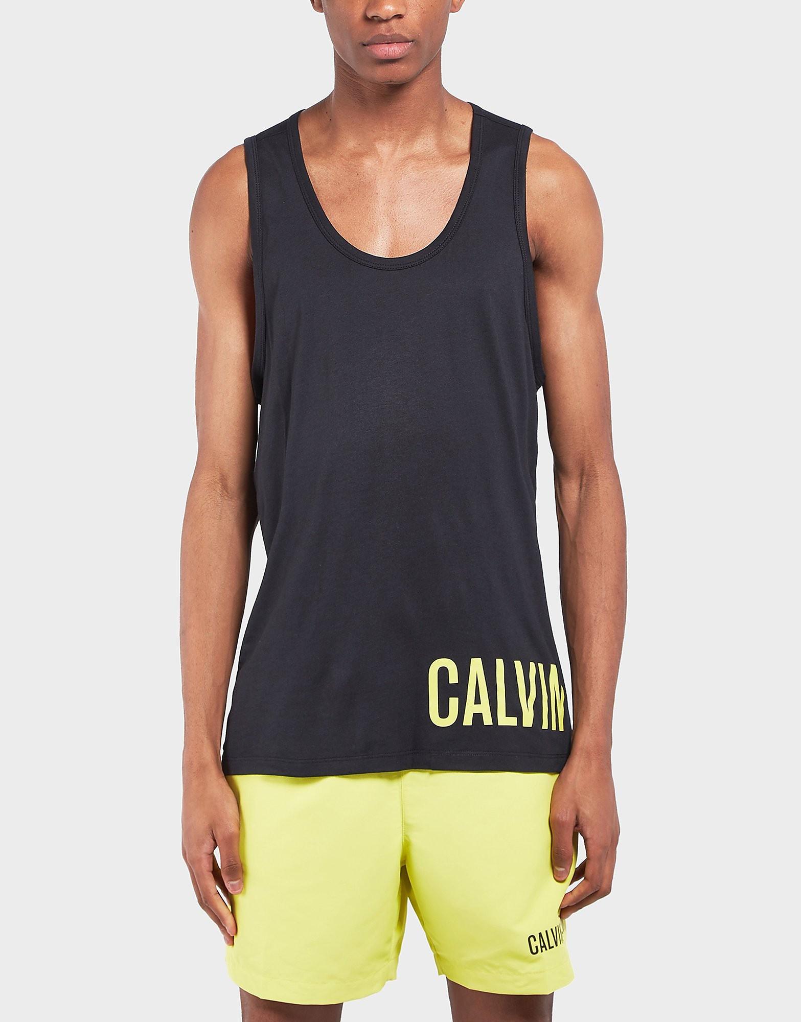 Calvin Klein Logo Swim Tank Top